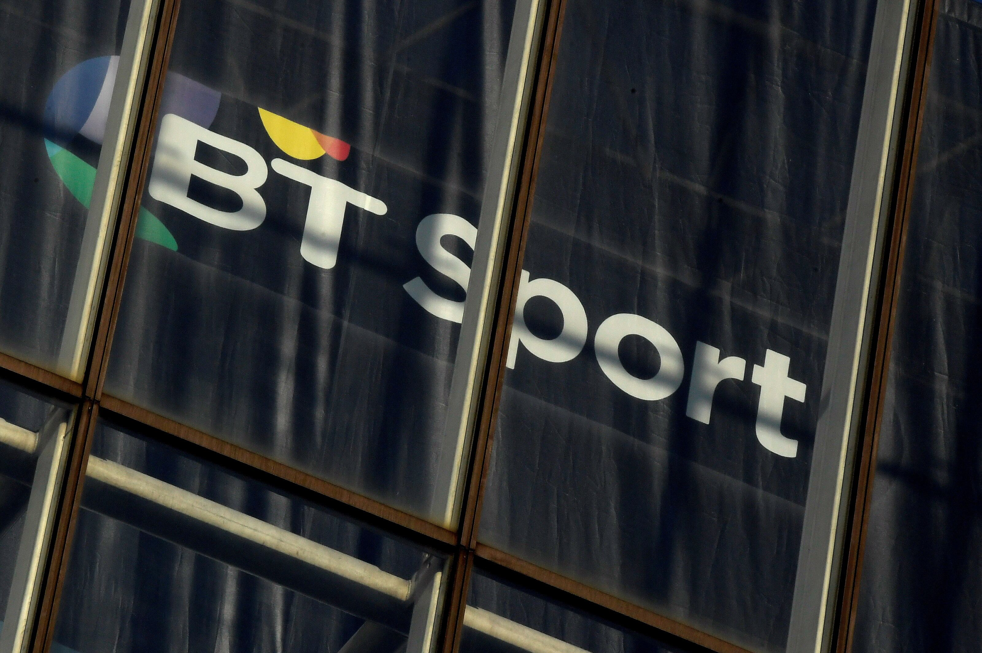 A BT Sport logo is displayed in an office in the City of London, Britain, January 24, 2017. REUTERS/Toby Melville