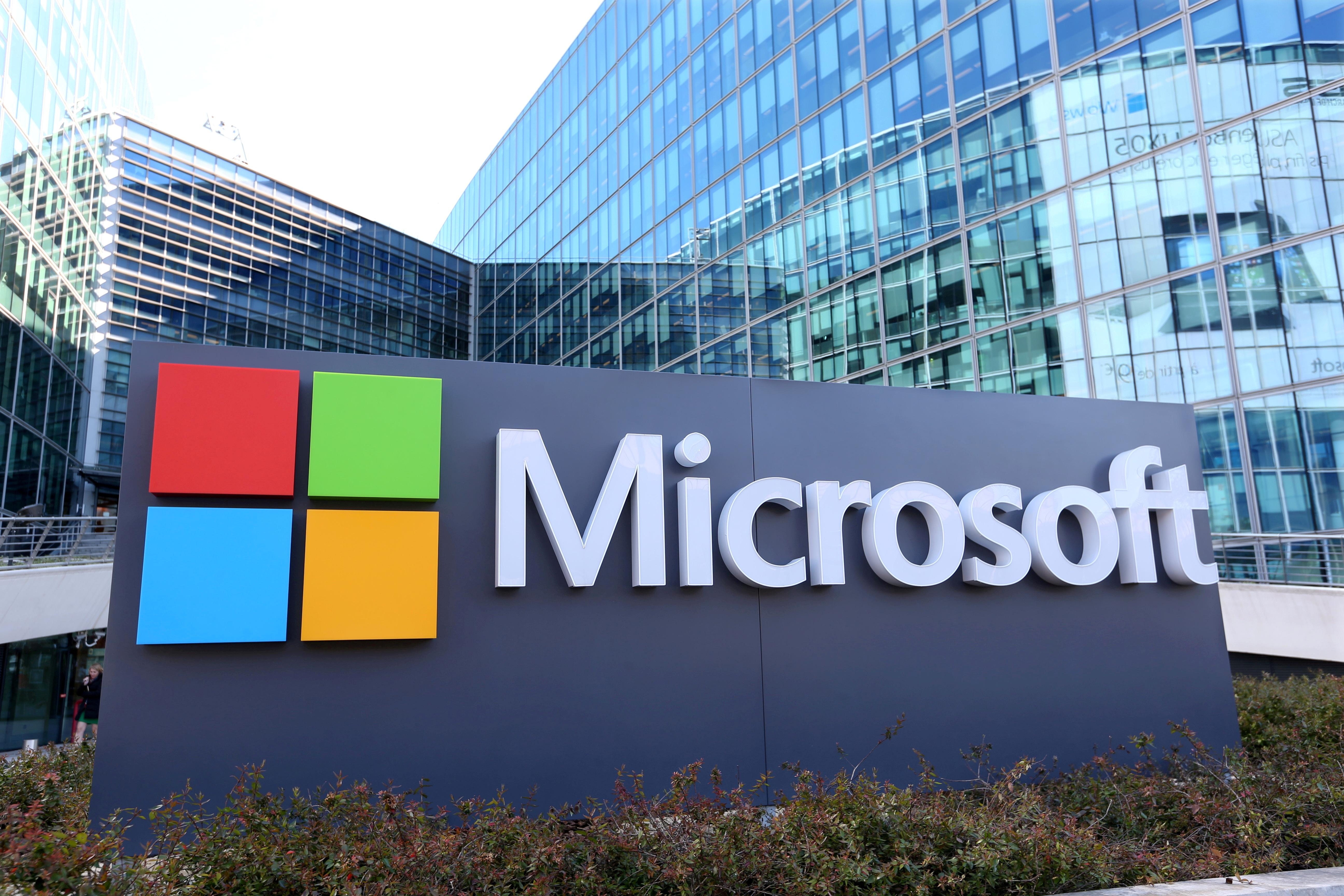 General view of Microsoft Corporation headquarters at Issy-les-Moulineaux, near Paris,  France, April 18, 2016. REUTERS/Charles Platiau