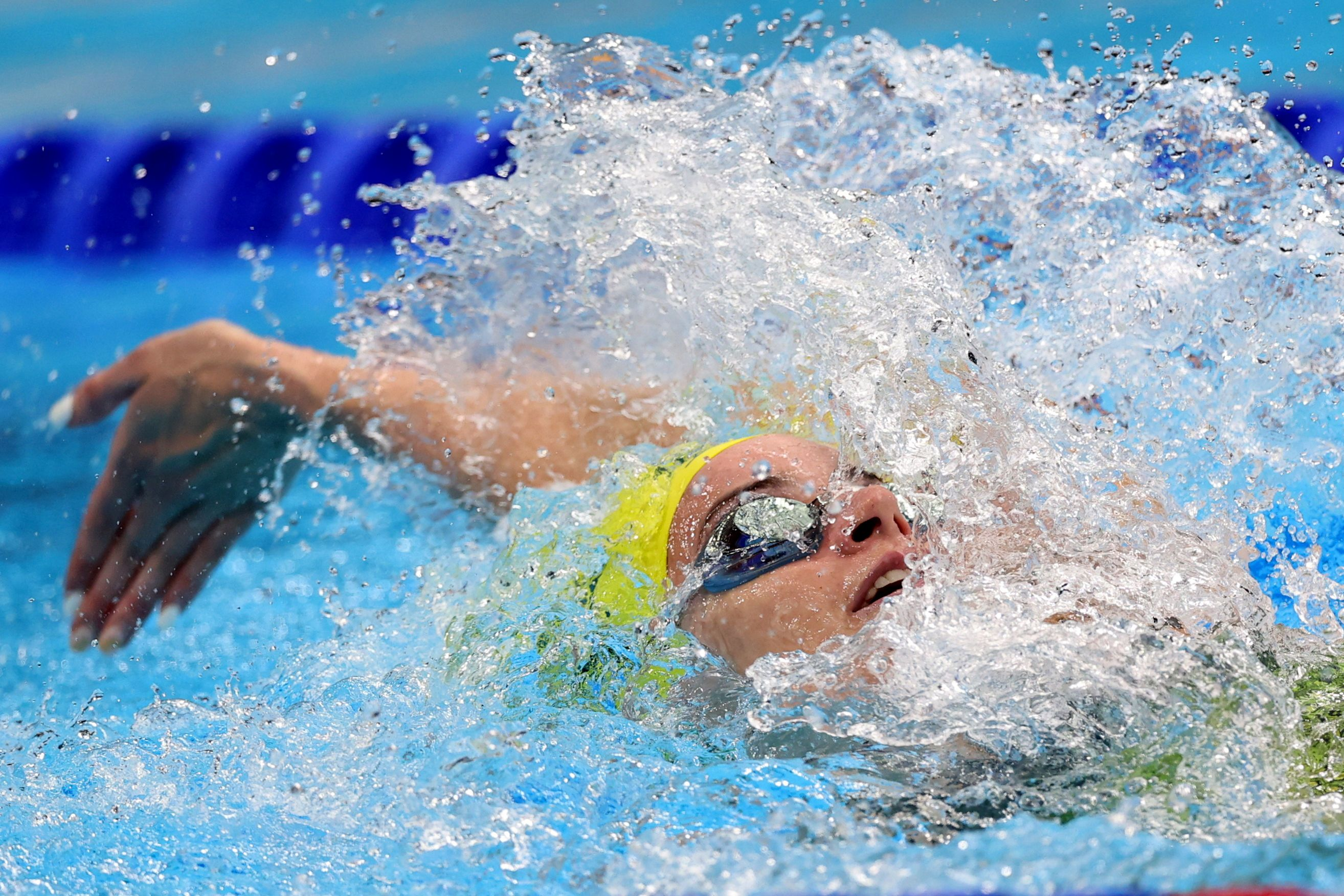 Tokyo 2020 Olympics - Swimming - Women's 200m Backstroke - Final - Tokyo Aquatics Centre - Tokyo, Japan - July 31, 2021. Kaylee McKeown of Australia in action. REUTERS/Carl Recine