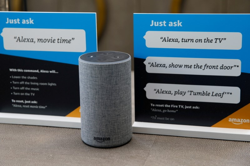 Prompts on how to use Amazon's Alexa personal assistant are seen in an Amazon 'experience centre' in Vallejo, California, U.S., May 8, 2018. Picture taken May 8, 2018. REUTERS/Elijah Nouvelage/File Photo