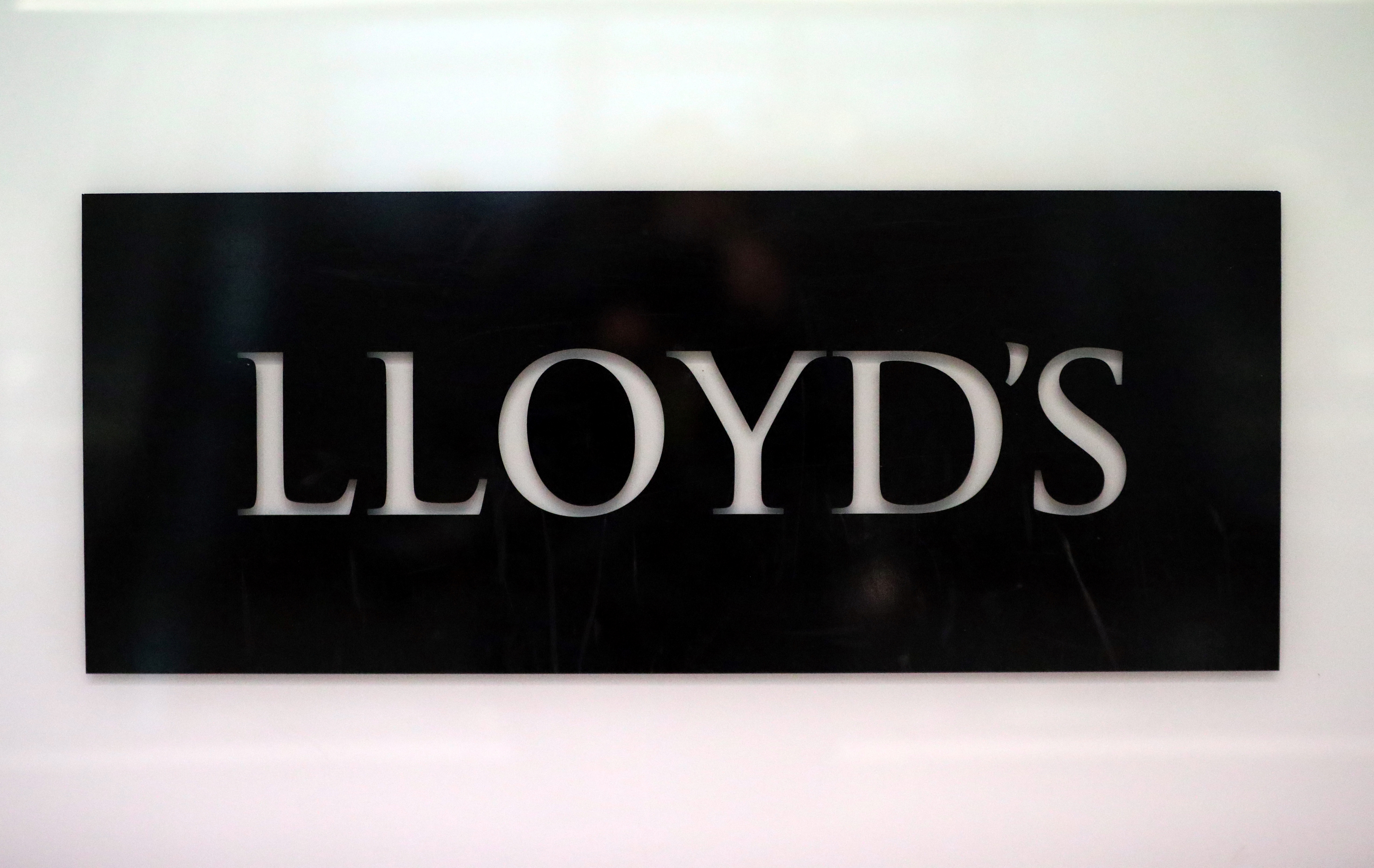 Signage is seen inside the Lloyd's of London building in the City of London financial district in London, Britain, April 16, 2019. REUTERS/Hannah McKay