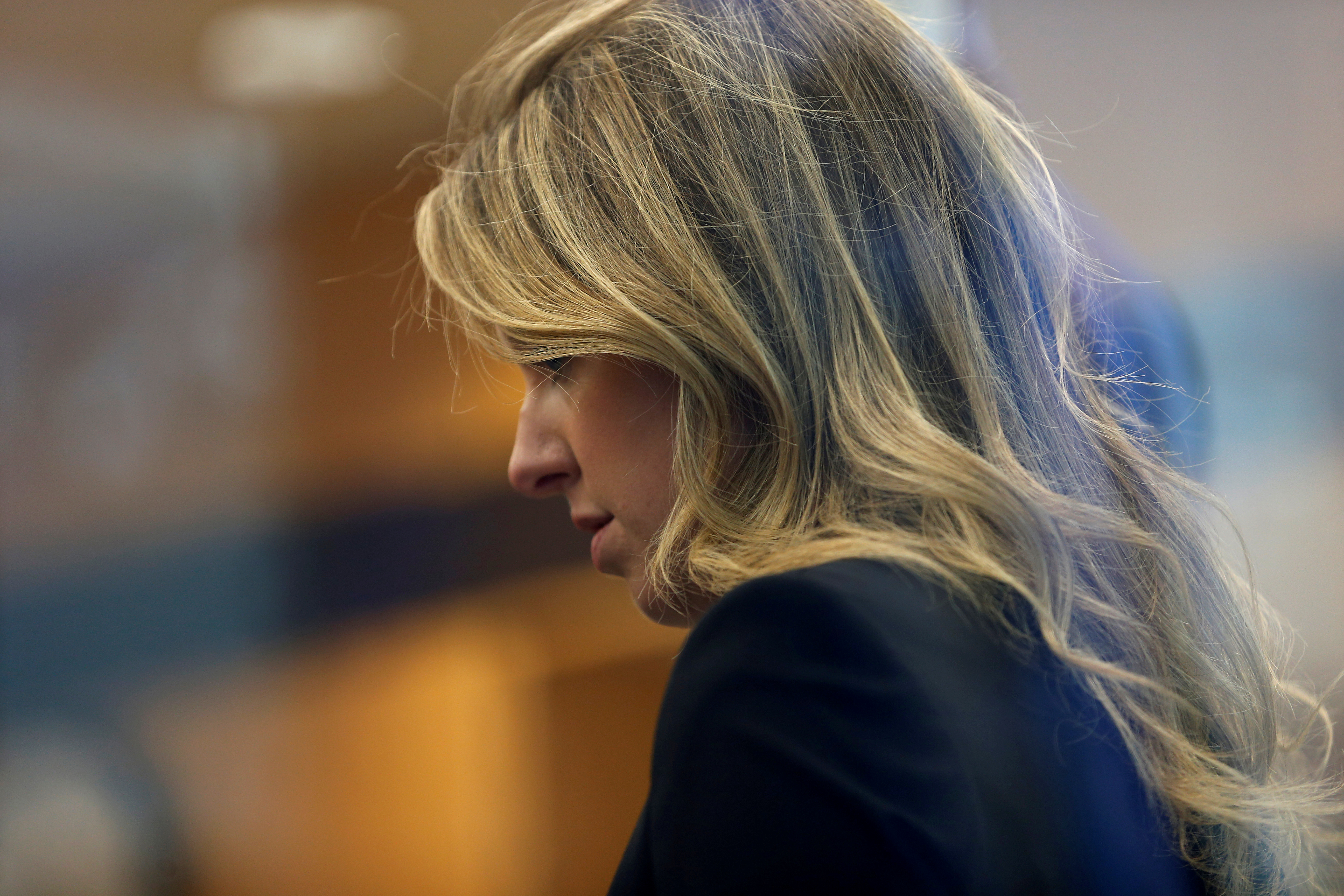 Former Theranos CEO Elizabeth Holmes arrives for a hearing at a federal court in San Jose, California, U.S., July 17, 2019.  REUTERS/Stephen Lam