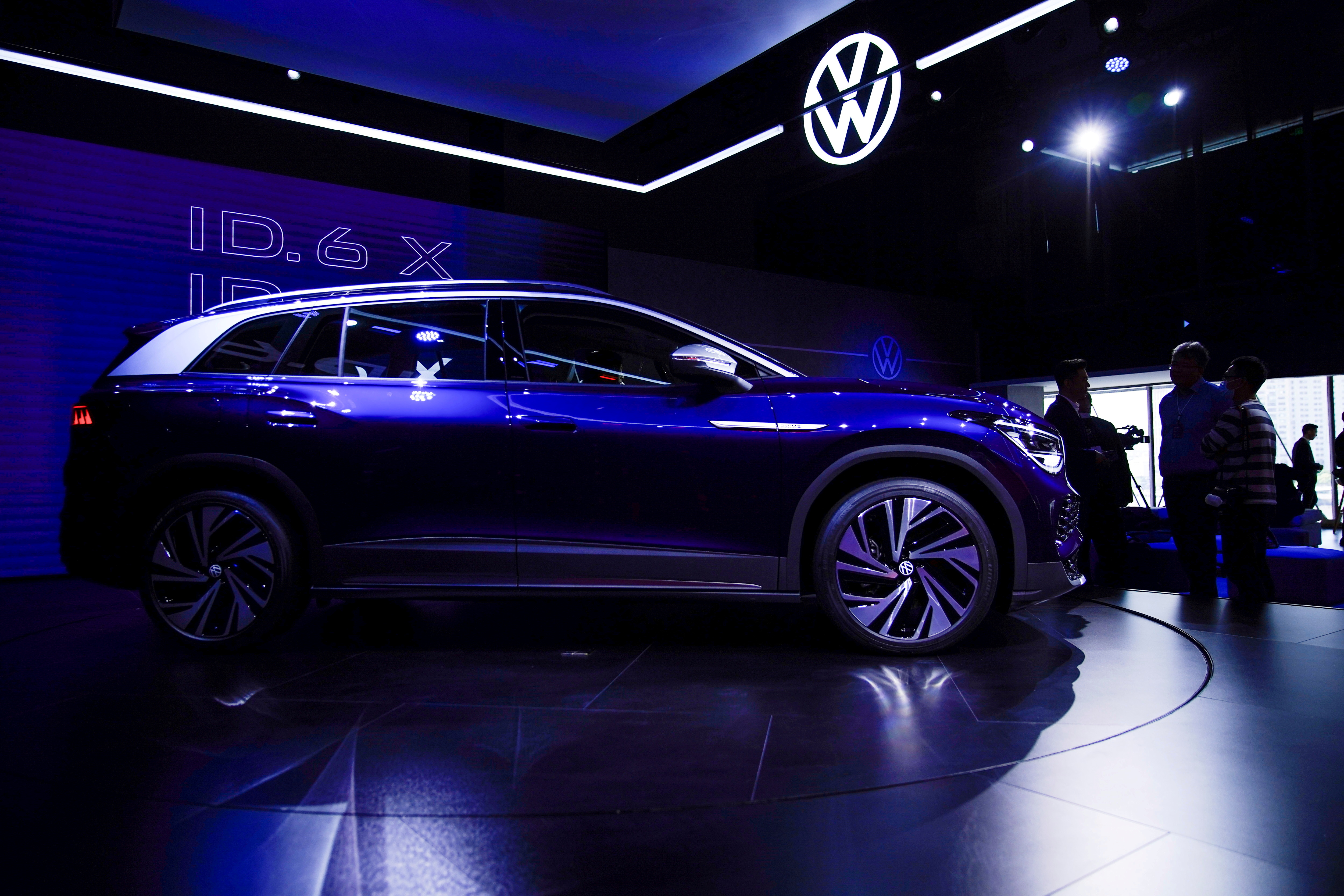 A Volkswagen ID.6 X is displayed ahead of the Shanghai Auto Show, in Shanghai, China April 18, 2021. REUTERS/Aly Song