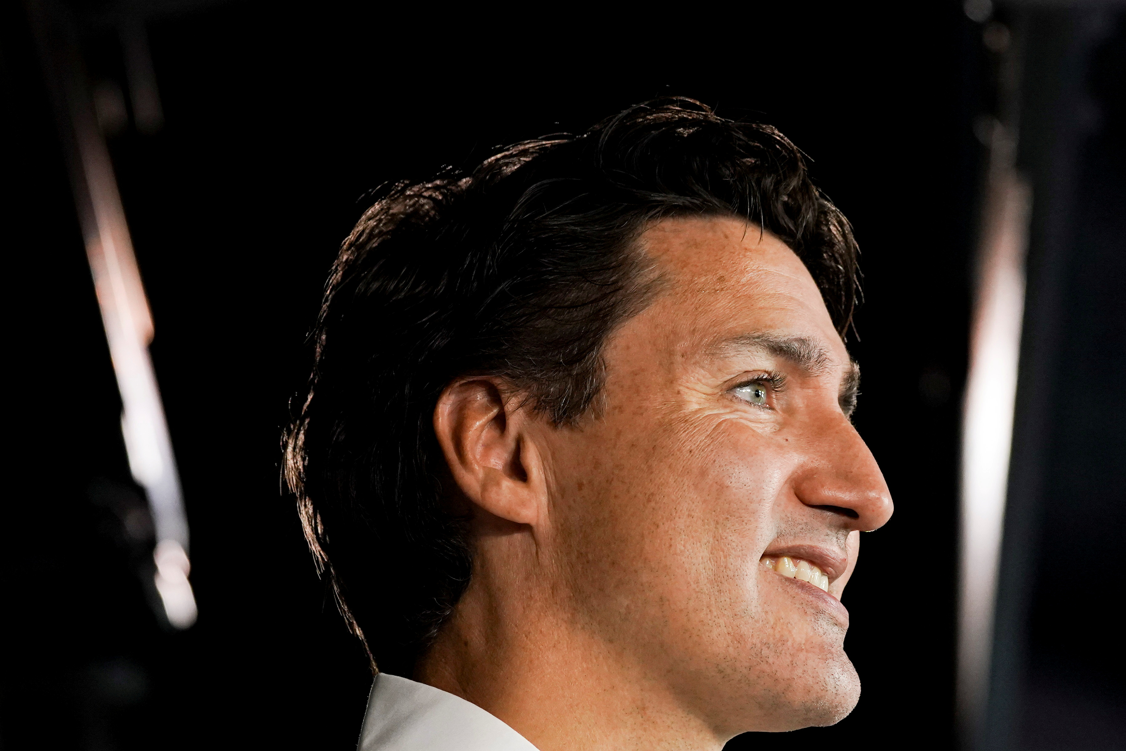 Canada's Liberal Prime Minister Justin Trudeau speaks at the Discovery Centre during an election campaign stop in Halifax, Nova Scotia, Canada September 15, 2021. REUTERS/Carlos Osorio