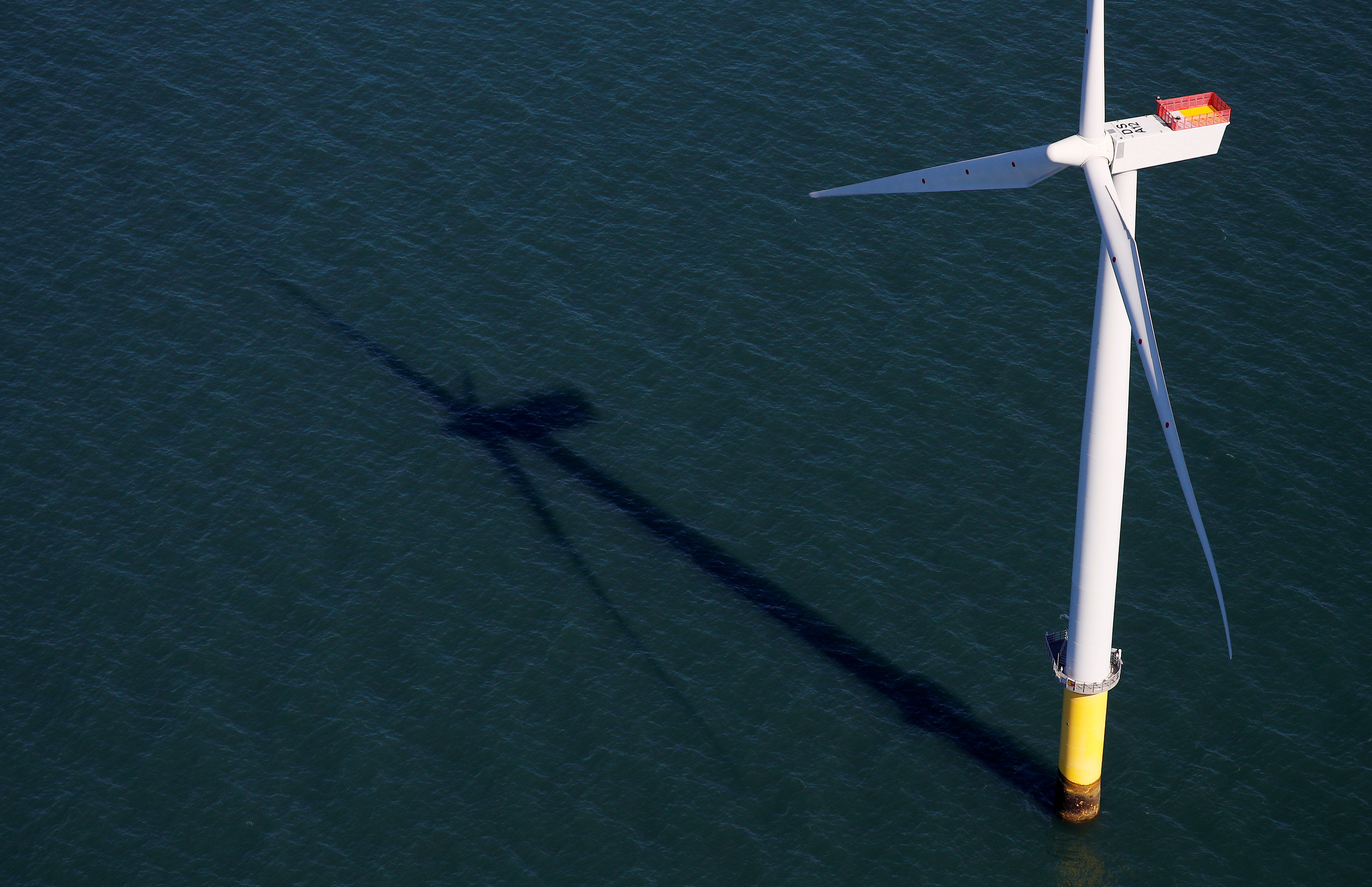 General view of the Walney Extension offshore wind farm operated by Orsted off the coast of Blackpool, Britain September 5, 2018. REUTERS/Phil Noble