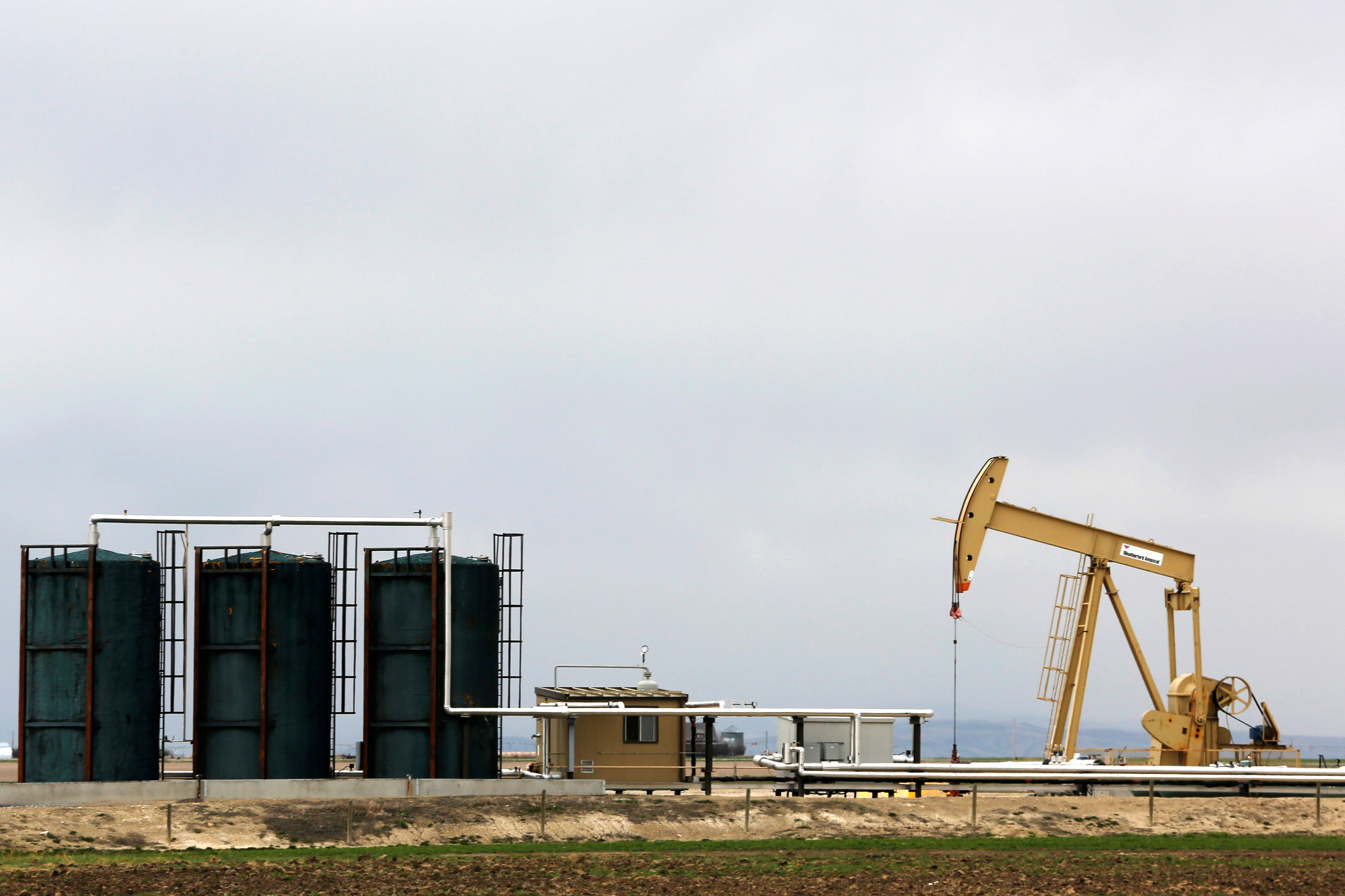 A TORC Oil & Gas pump jack is seen near Granum, Alberta, Canada May 6, 2020. REUTERS/Todd Korol/File Photo