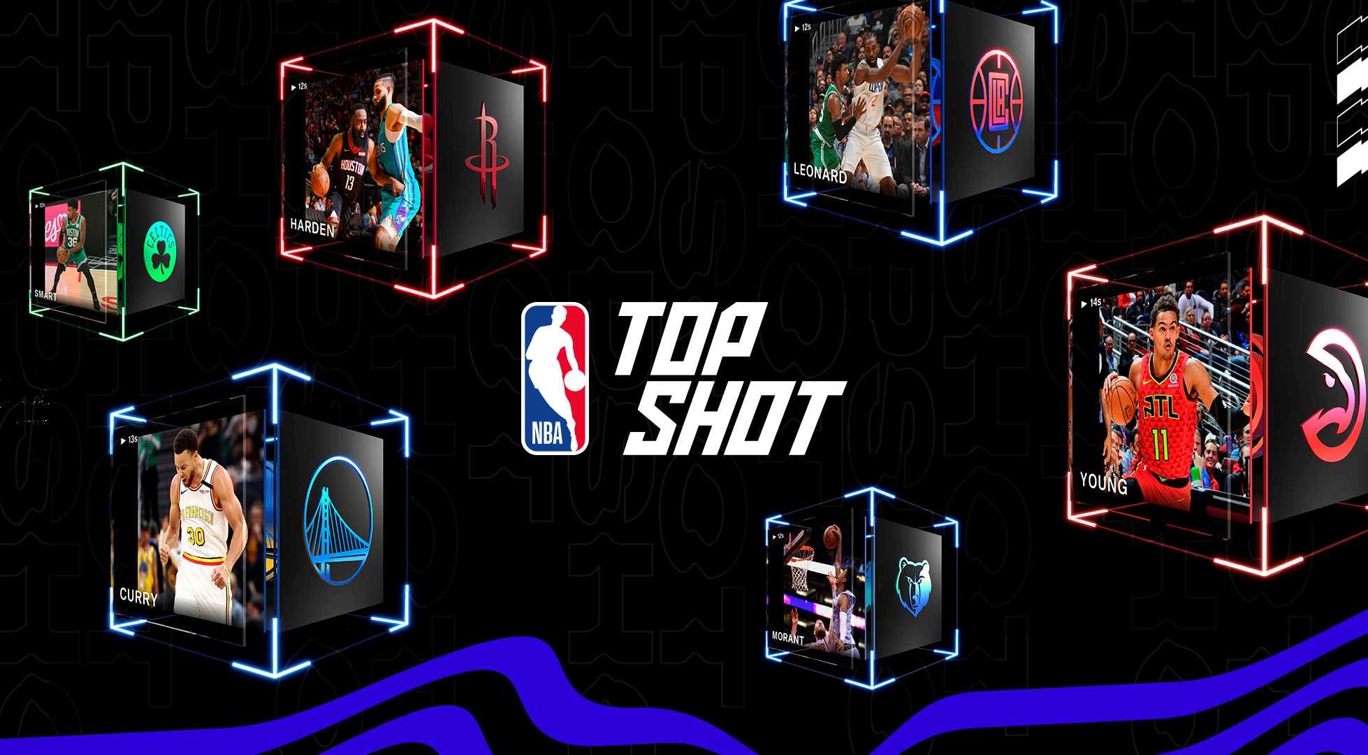 Images created for the launch of NBA Top Shot, an online platform which allows users to buy and trade videos of basketball highlights. Dapper Labs/via REUTERS