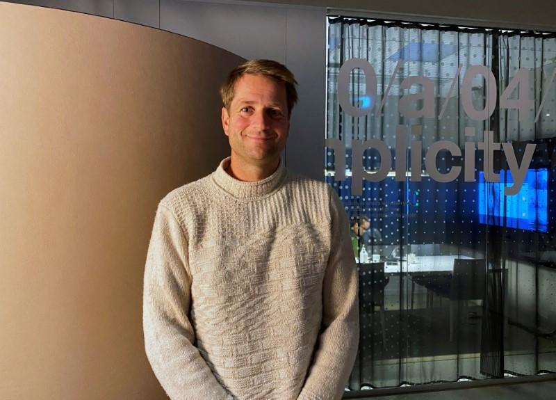 Klarna CEO Sebastian Siemiatkowski in the company's office in Stockholm, Sweden, August 25, 2020. Picture taken August 25, 2020. REUTERS/Supantha Mukherjee/File Photo