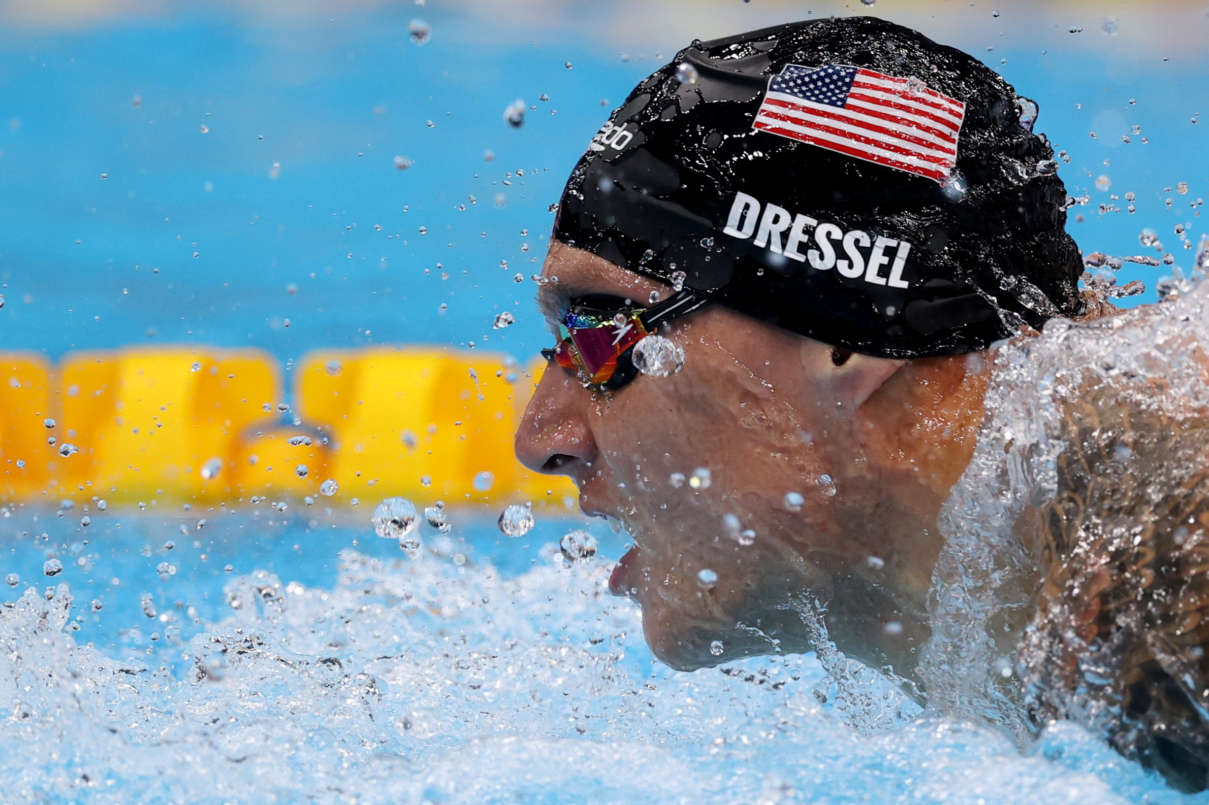 Tokyo 2020 Olympics - Swimming - Men's 100m Butterfly - Final - Tokyo Aquatics Centre - Tokyo, Japan - July 31, 2021. Caeleb Dressel of the United States in action. REUTERS/Carl Recine