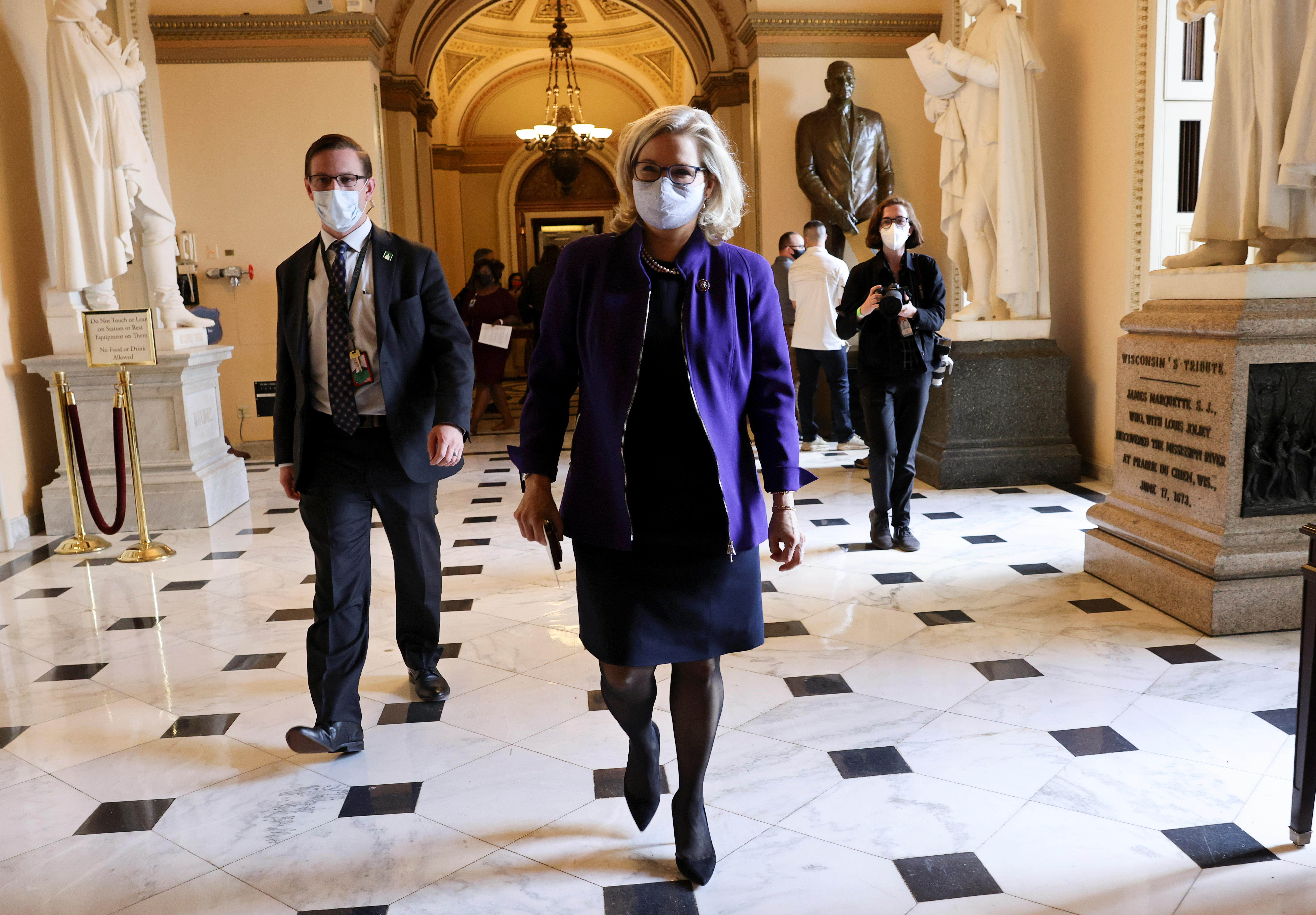 U.S. Representative Liz Cheney (R-WY) walks through the U.S. Capitol in Washington, U.S., May 13, 2021. REUTERS/Evelyn Hockstein