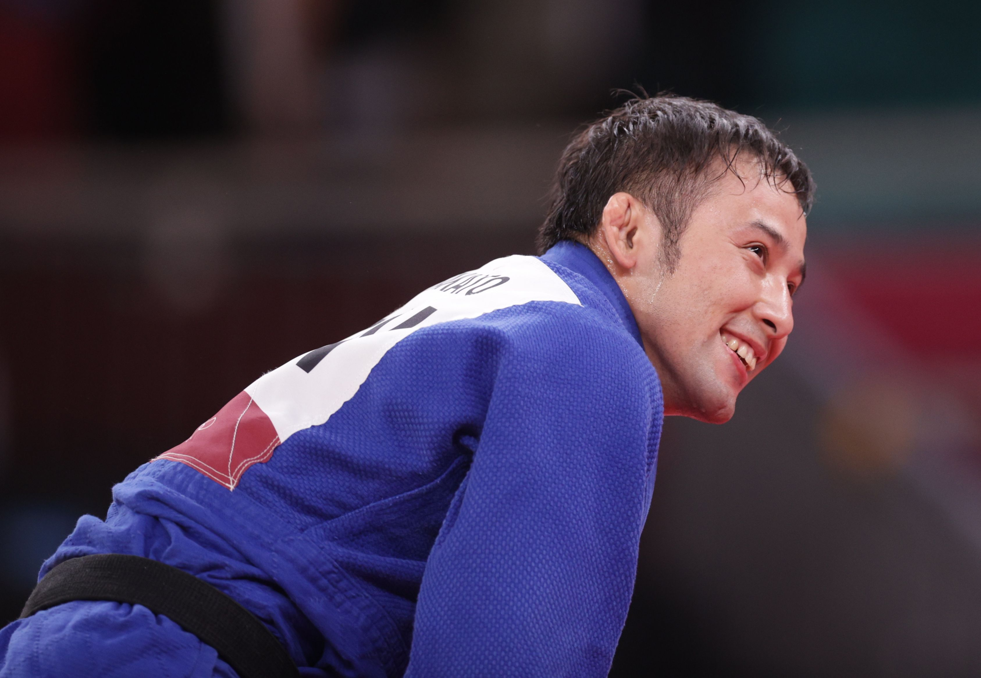 Tokyo 2020 Olympics - Judo - Men's 60kg - Gold medal match - Nippon Budokan - Tokyo, Japan - July 24, 2021. Naohisa Takato of Japan reacts after winning gold REUTERS/Hannah Mckay