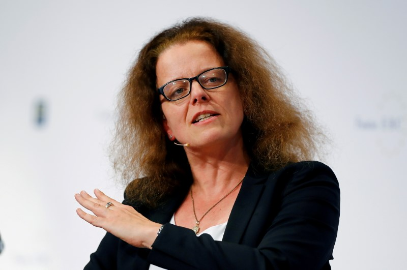 Isabel Schnabel, member of the German advisory board of economic experts attends the 29th Frankfurt European Banking Congress (EBC) at the Old Opera house in Frankfurt, Germany November 22, 2019. REUTERS/Ralph Orlowski//File Photo