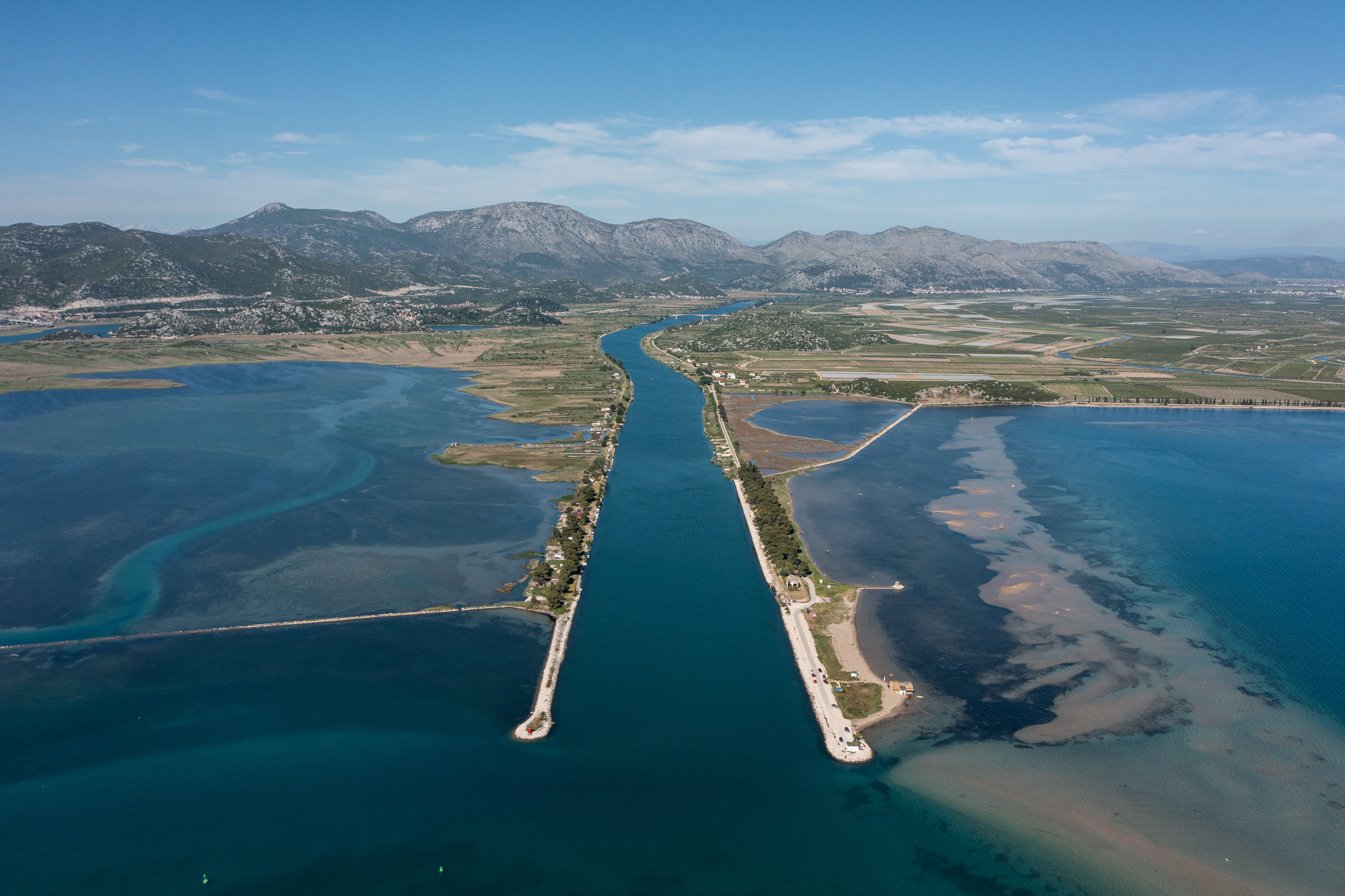 Mouth of the Neretva river is seen near Ploce, Croatia, May 10, 2021. Picture taken with a drone on May 10, 2021. REUTERS/Antonio Bronic