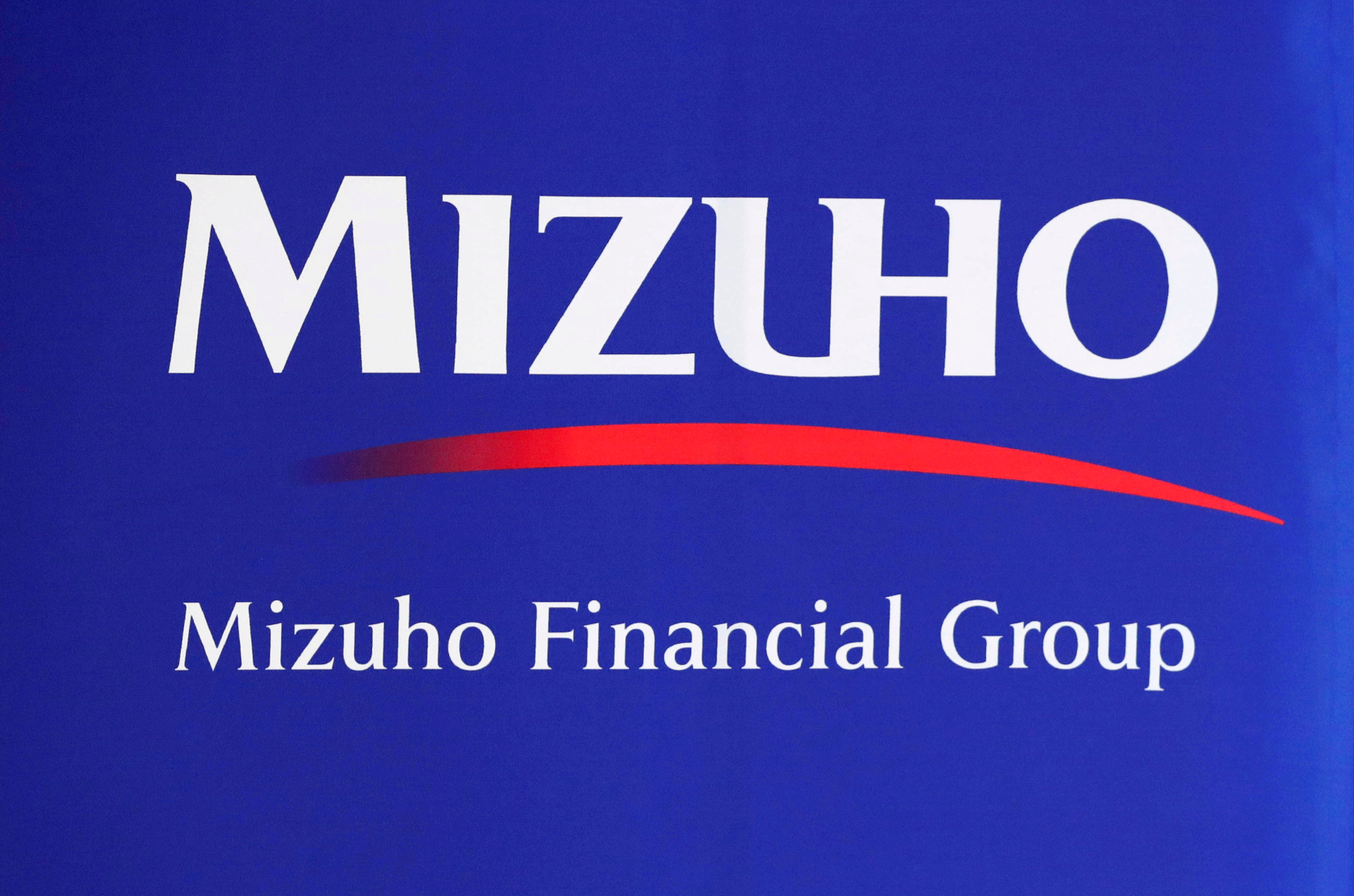 Mizuho Financial Group logo is seen at the company's headquarters in Tokyo, Japan August 20, 2018.  REUTERS/Toru Hanai