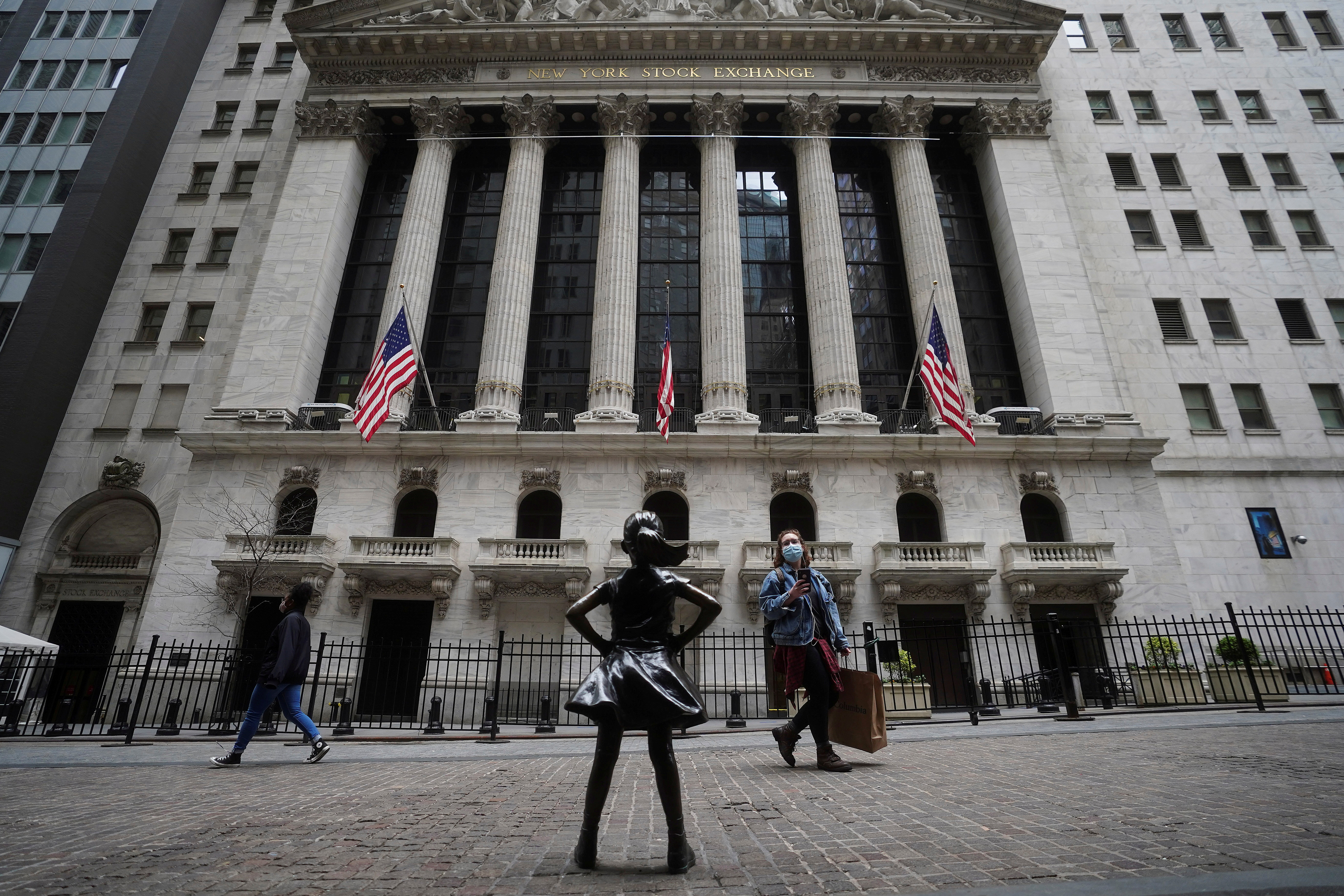 The New York Stock Exchange is pictured in the Manhattan borough of New York City, New York, U.S., April 16, 2021. REUTERS/Carlo Allegri