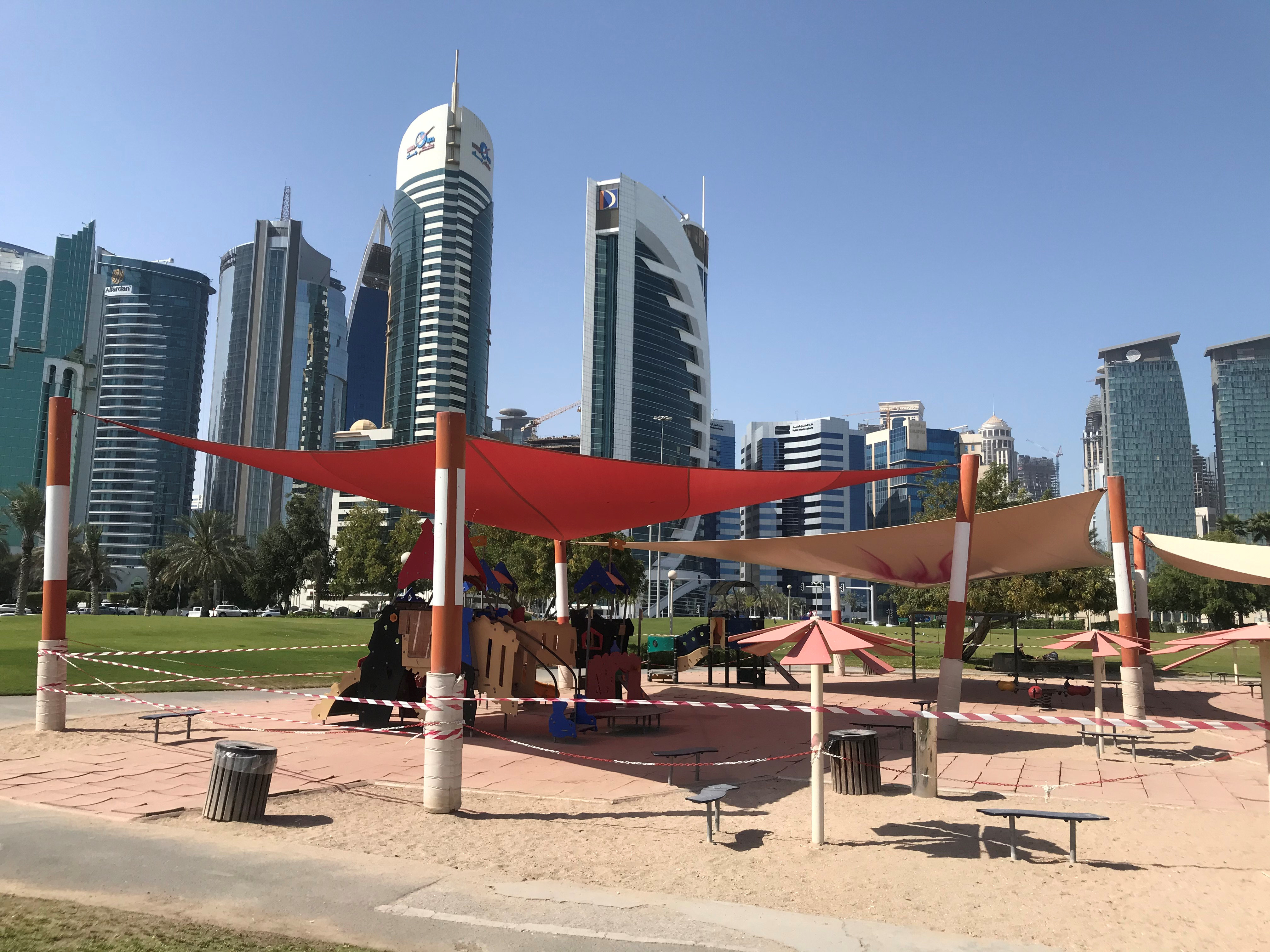General view of a empty kids playground, following the outbreak of coronavirus disease (COVID-19), in Doha, Qatar March 17, 2020. REUTERS/Stringer