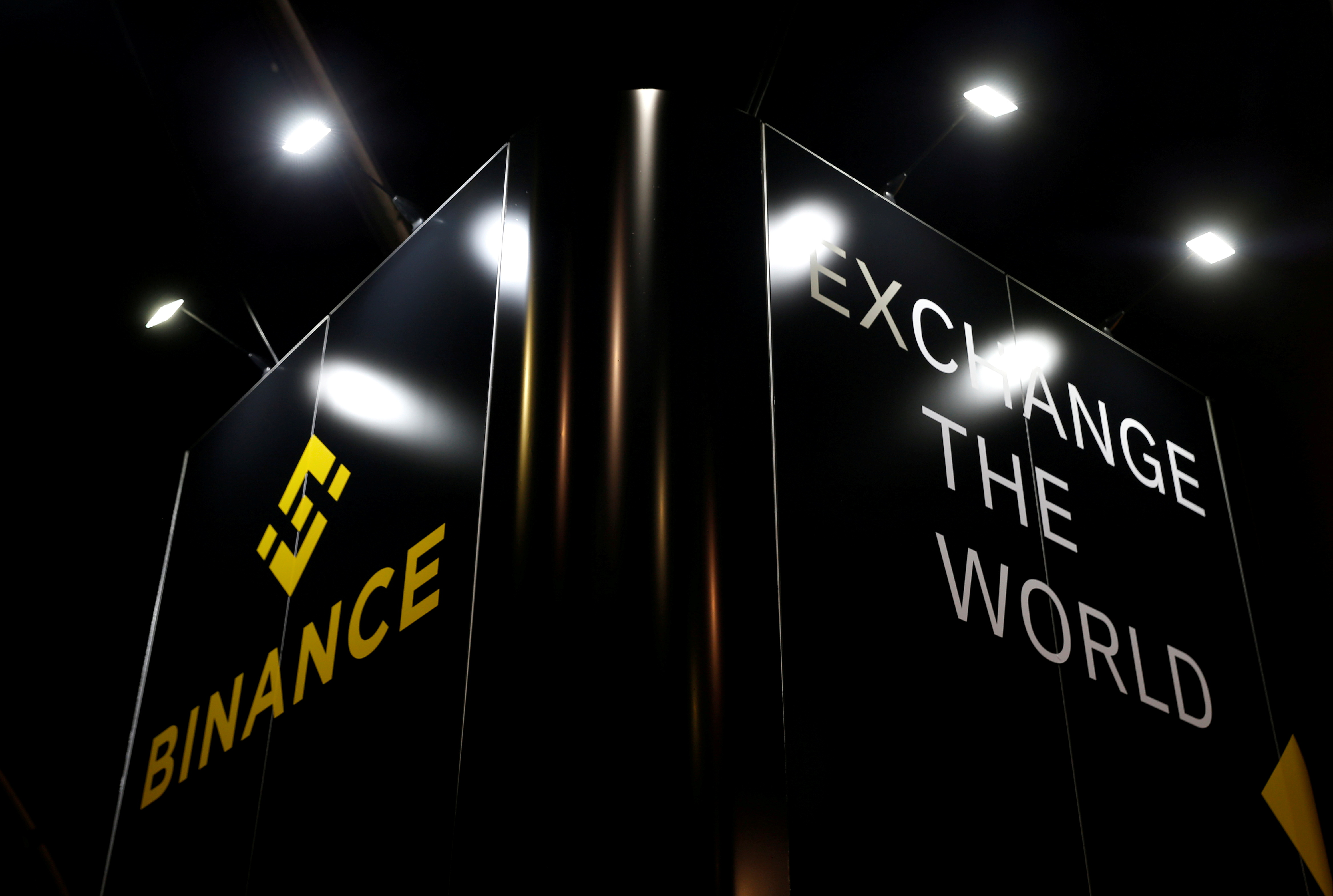 The logo of Binance is seen on their exhibition stand at the Delta Summit, Malta's official Blockchain and Digital Innovation event promoting cryptocurrency, in Ta' Qali, Malta October 3, 2019.   REUTERS/Darrin Zammit Lupi