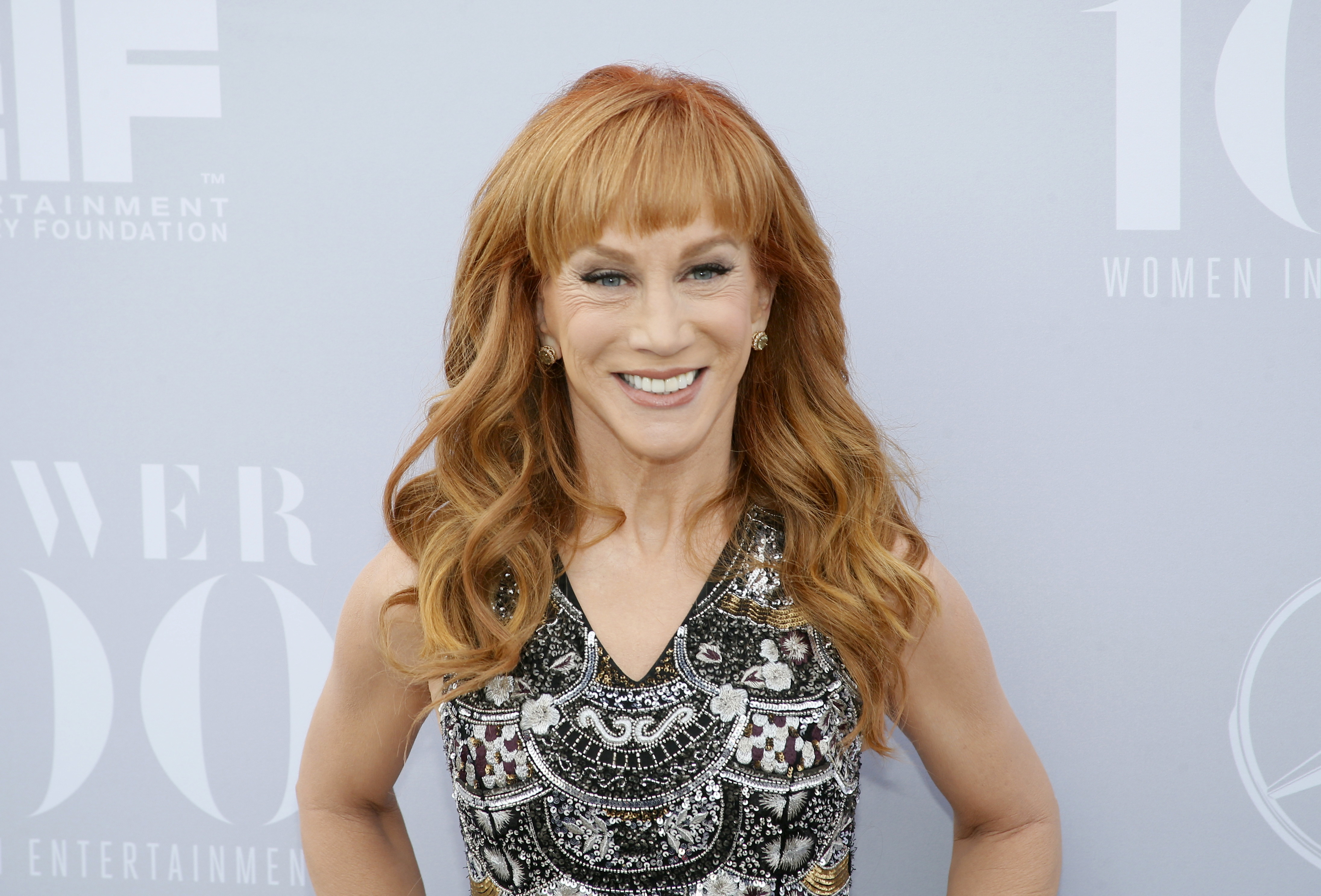 Comedian Kathy Griffin poses at The Hollywood Reporter's Annual Women in Entertainment Breakfast in Los Angeles, California December 9, 2015. REUTERS/Danny Moloshok/File Photo