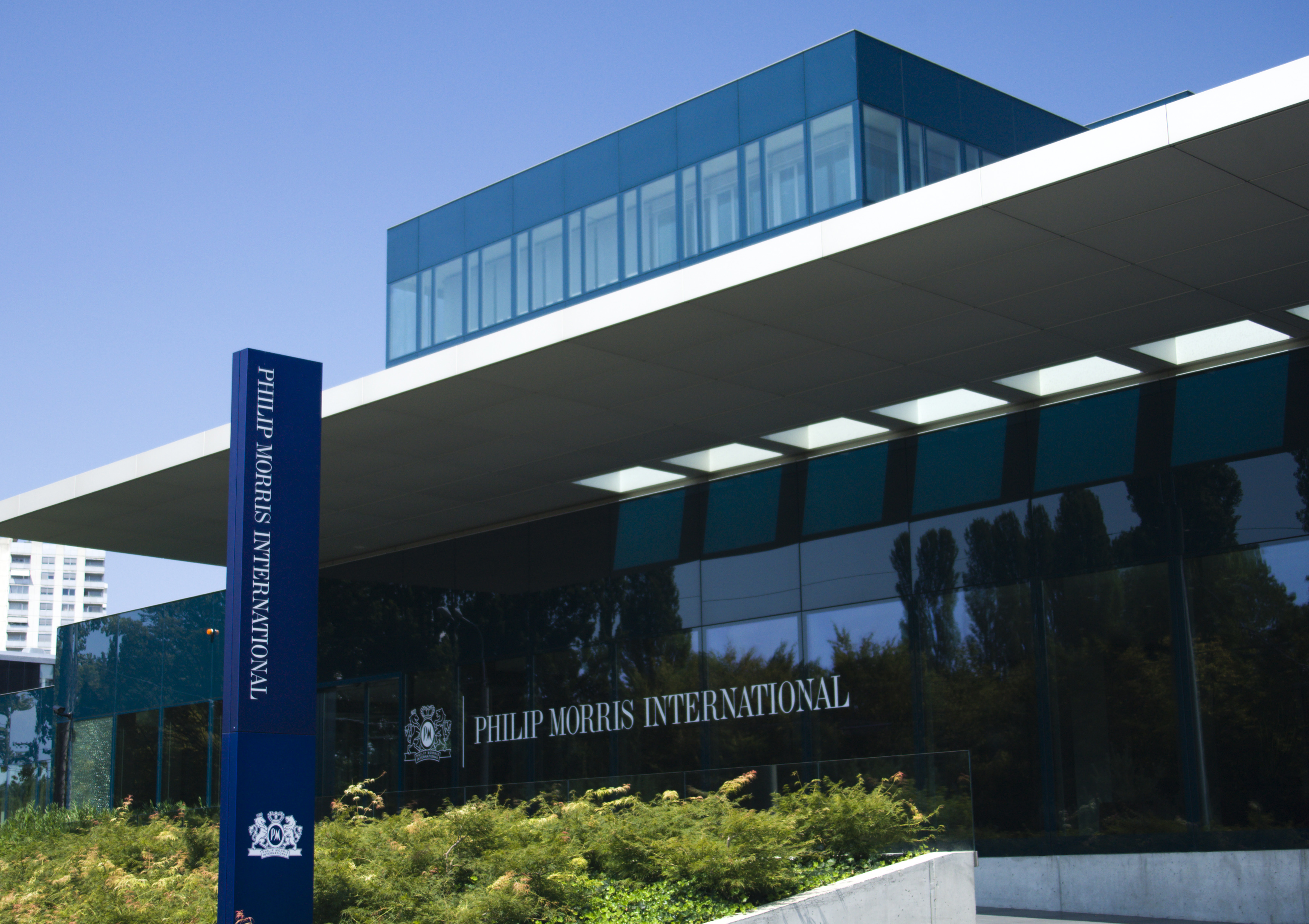 Philip Morris International Operation Center is pictured in Lausanne August 19, 2009. Philip Morris International (PMI) is the leading international tobacco company, with products sold in approximately 160 countries. REUTERS/Denis Balibouse/Files