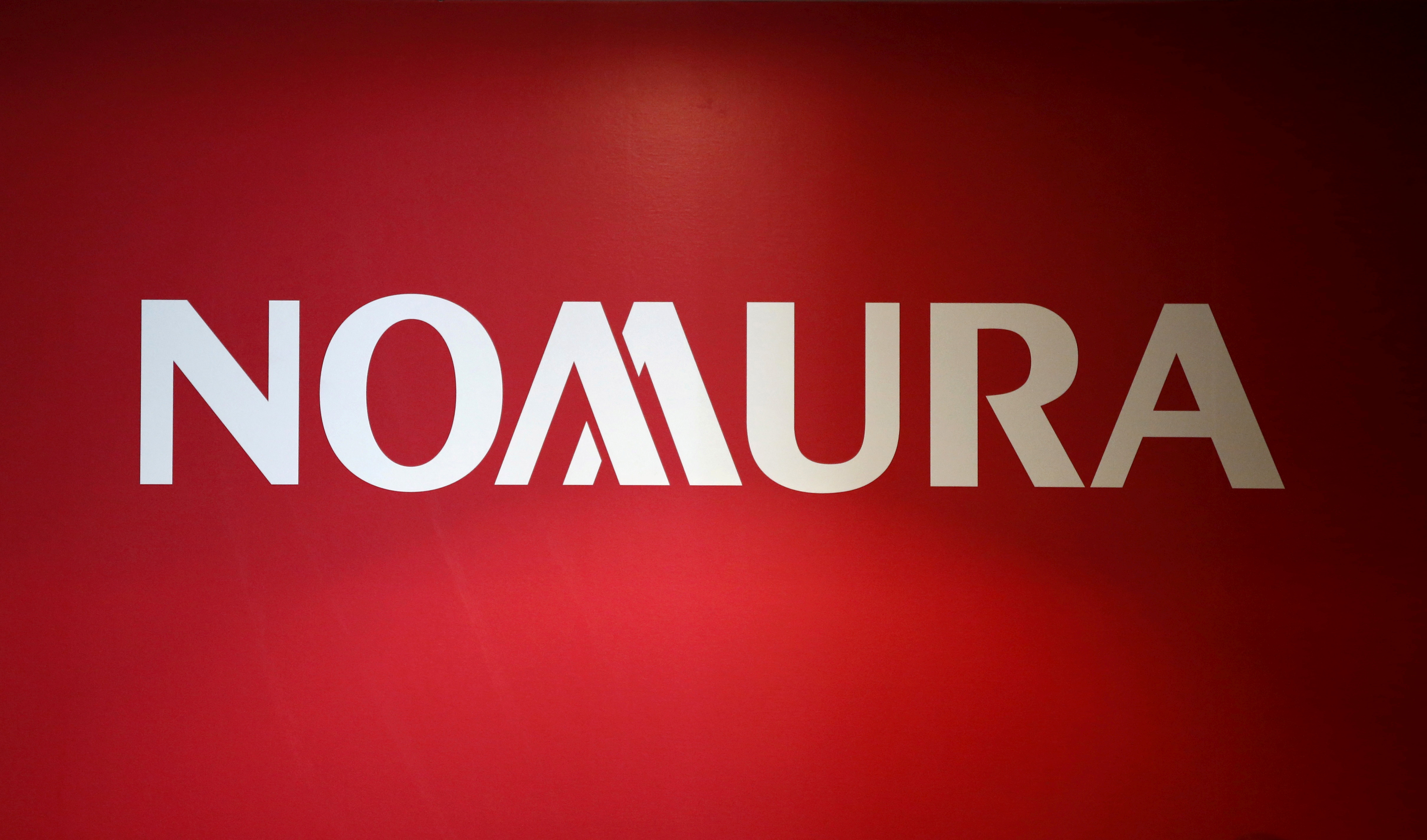 A logo of Nomura Holdings is pictured in Tokyo, Japan, December 1, 2015.   REUTERS/Toru Hanai/File Photo