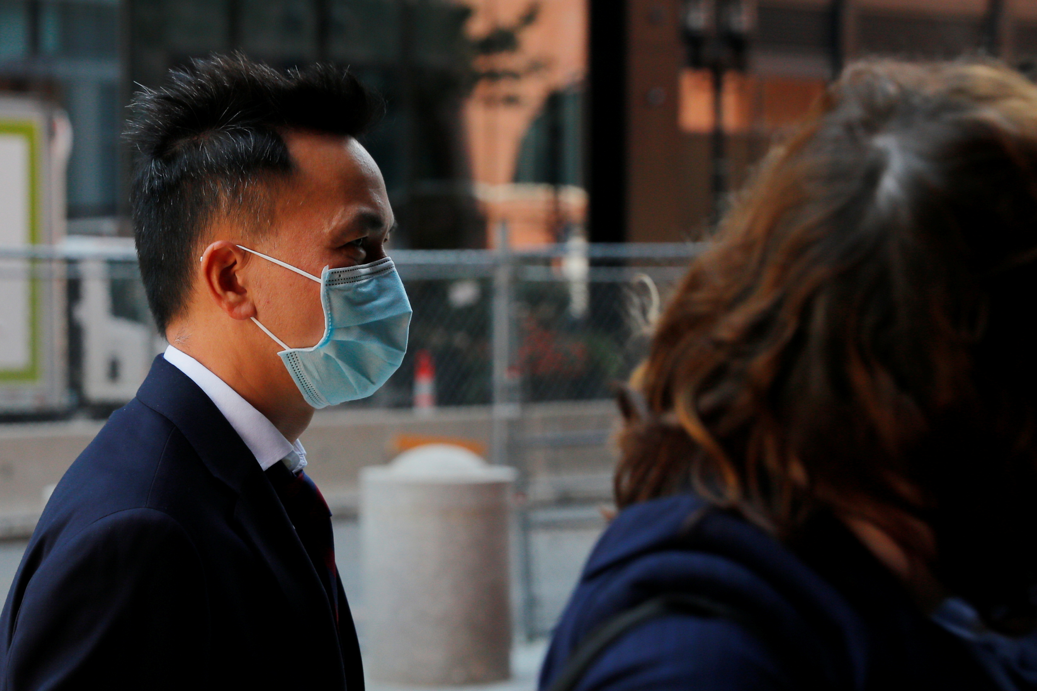 Chinese businessman Shuren Qin, a marine biologist and founder of a company that sells oceanographic instruments, arrives at the federal courthouse to be sentenced after pleading guilty to charges of smuggling marine technology out of the United States for the benefit of a Chinese military university involved in developing underwater drones, in Boston, Massachusetts, U.S., September 8, 2021.   REUTERS/Brian Snyder