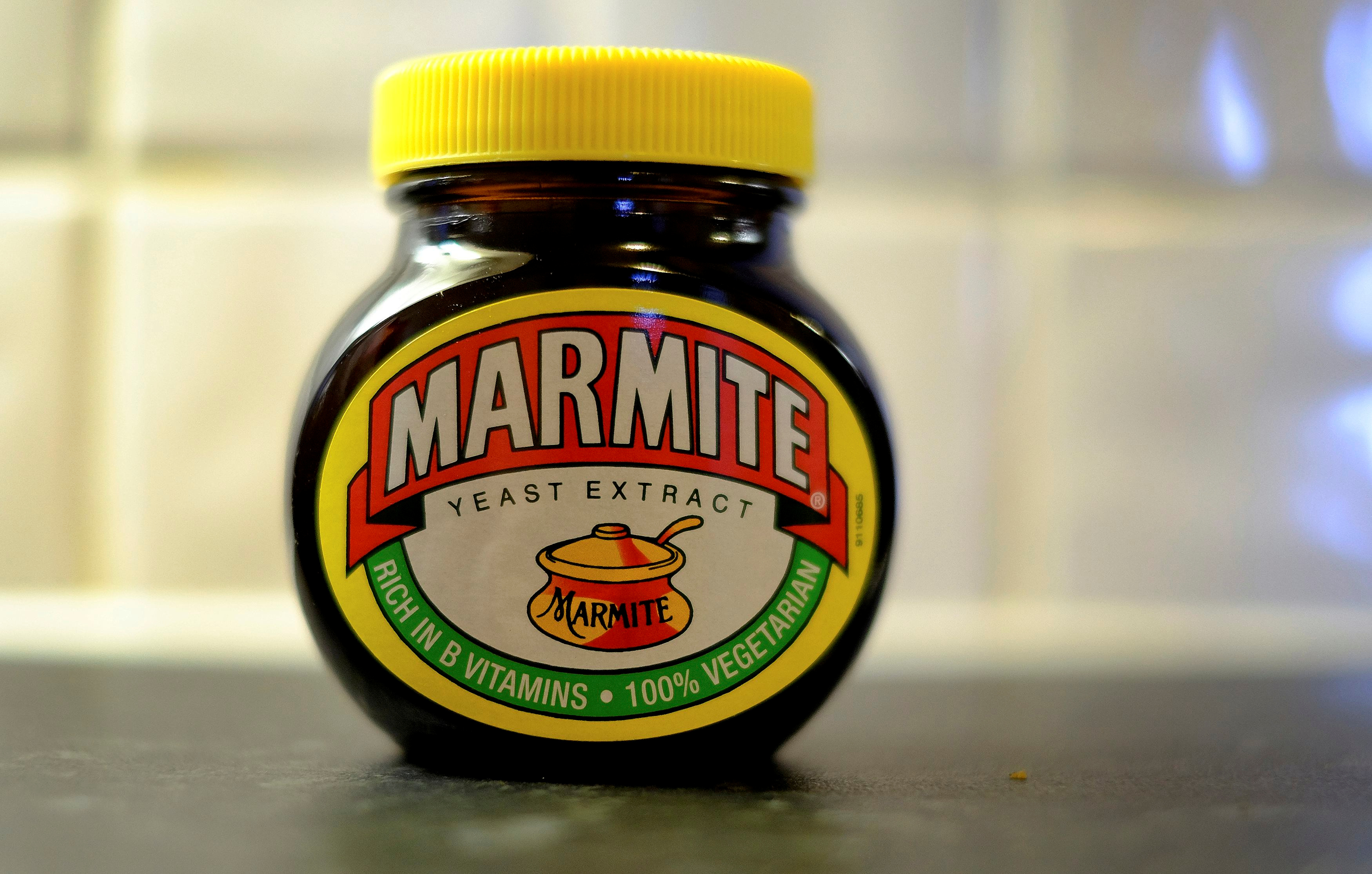 A jar of Marmite, a Unilever brand, sits on a kitchen counter in Manchester, Britain October 13, 2016.