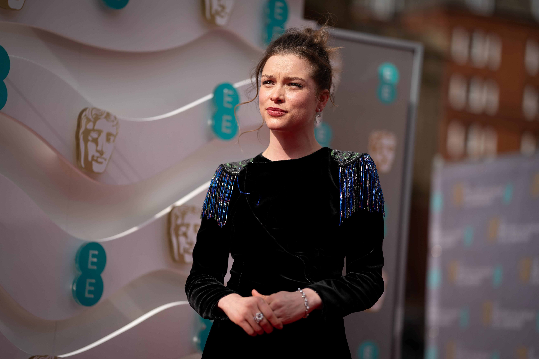 Sophie Cookson attends the 74th British Academy Film Awards in London, Britain, April 11, 2021. BAFTA/Scott Garfitt/Handout via REUTERS