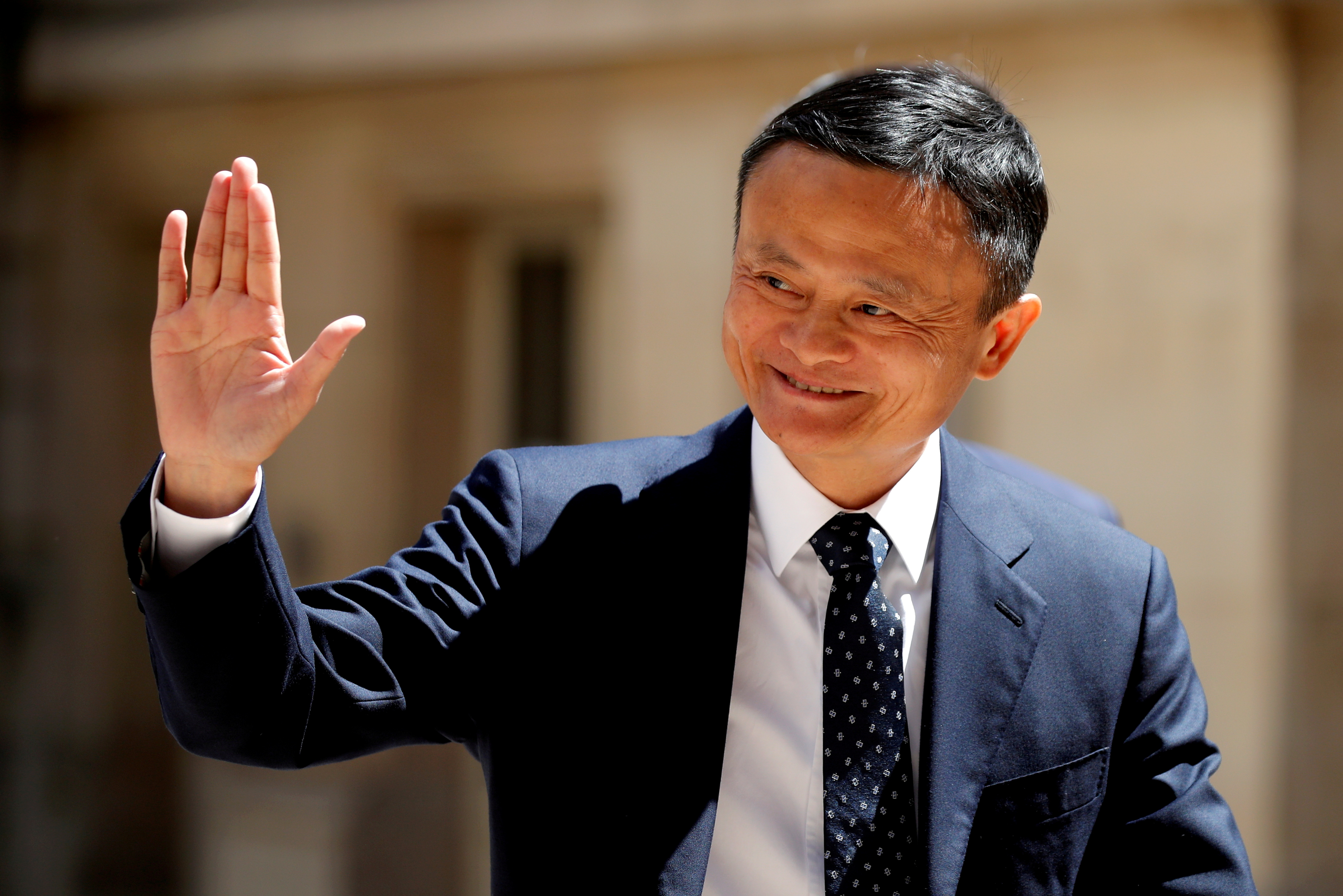 FILE PHOTO: Jack Ma, billionaire founder of Alibaba Group, arrives at the