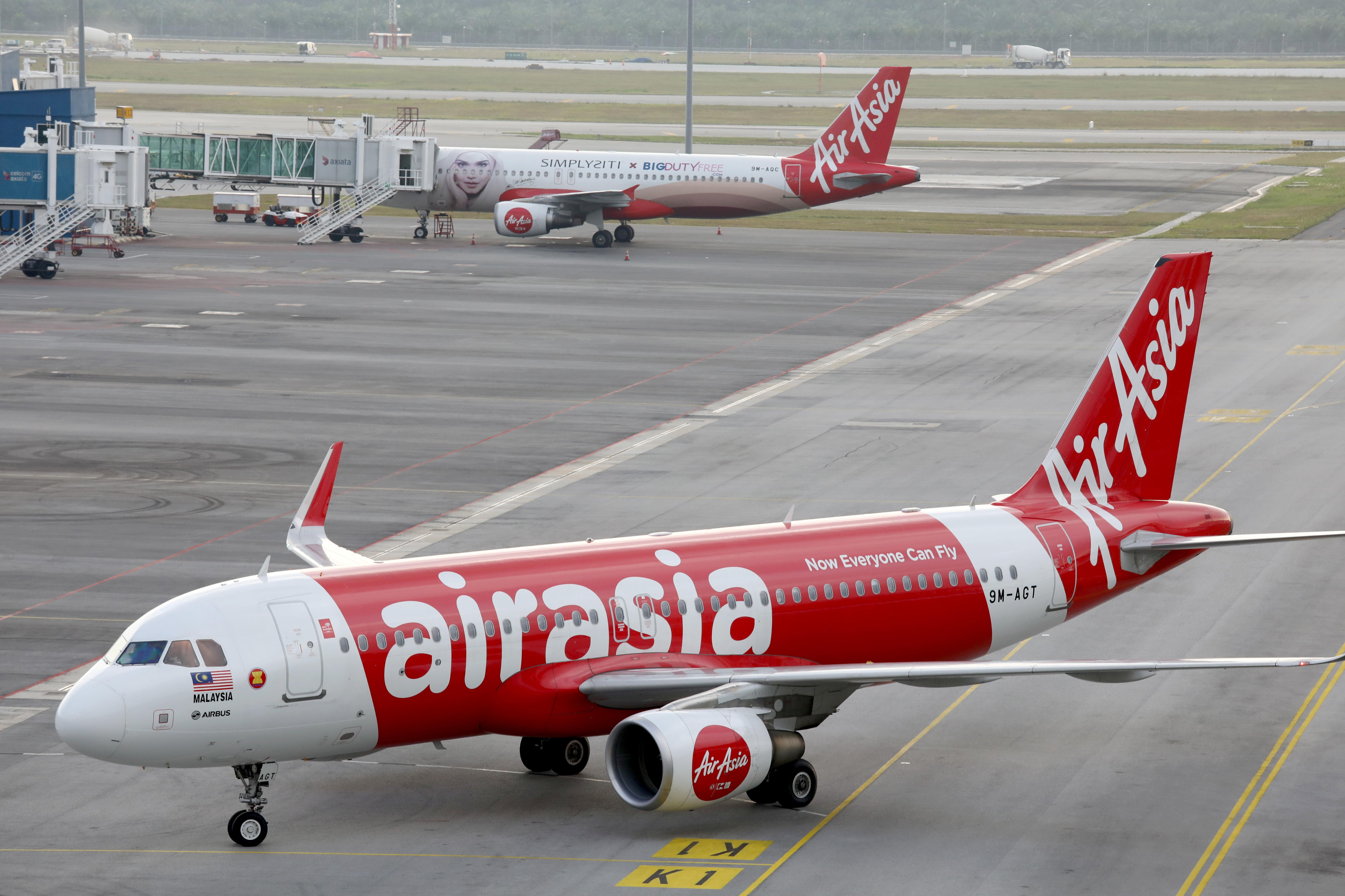AirAsia Airbus A320-200 planes are seen on the tarmac of Kuala Lumpur International Airport 2 (KLIA2) in Sepang, Malaysia, February 4, 2020. REUTERS/Lim Huey Teng