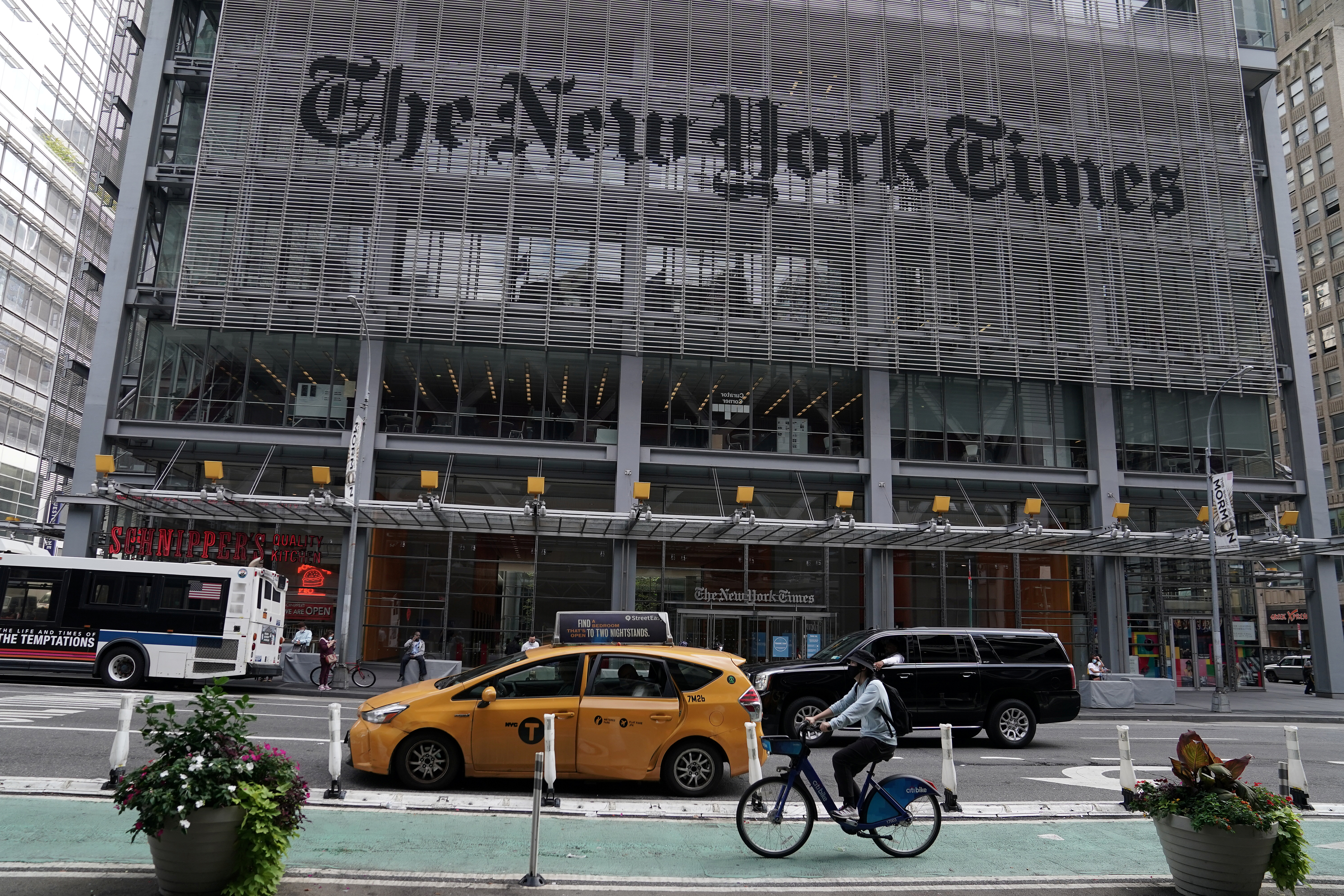 The New York Times office is pictured in New York City, September 28, 2020. REUTERS/Carlo Allegri
