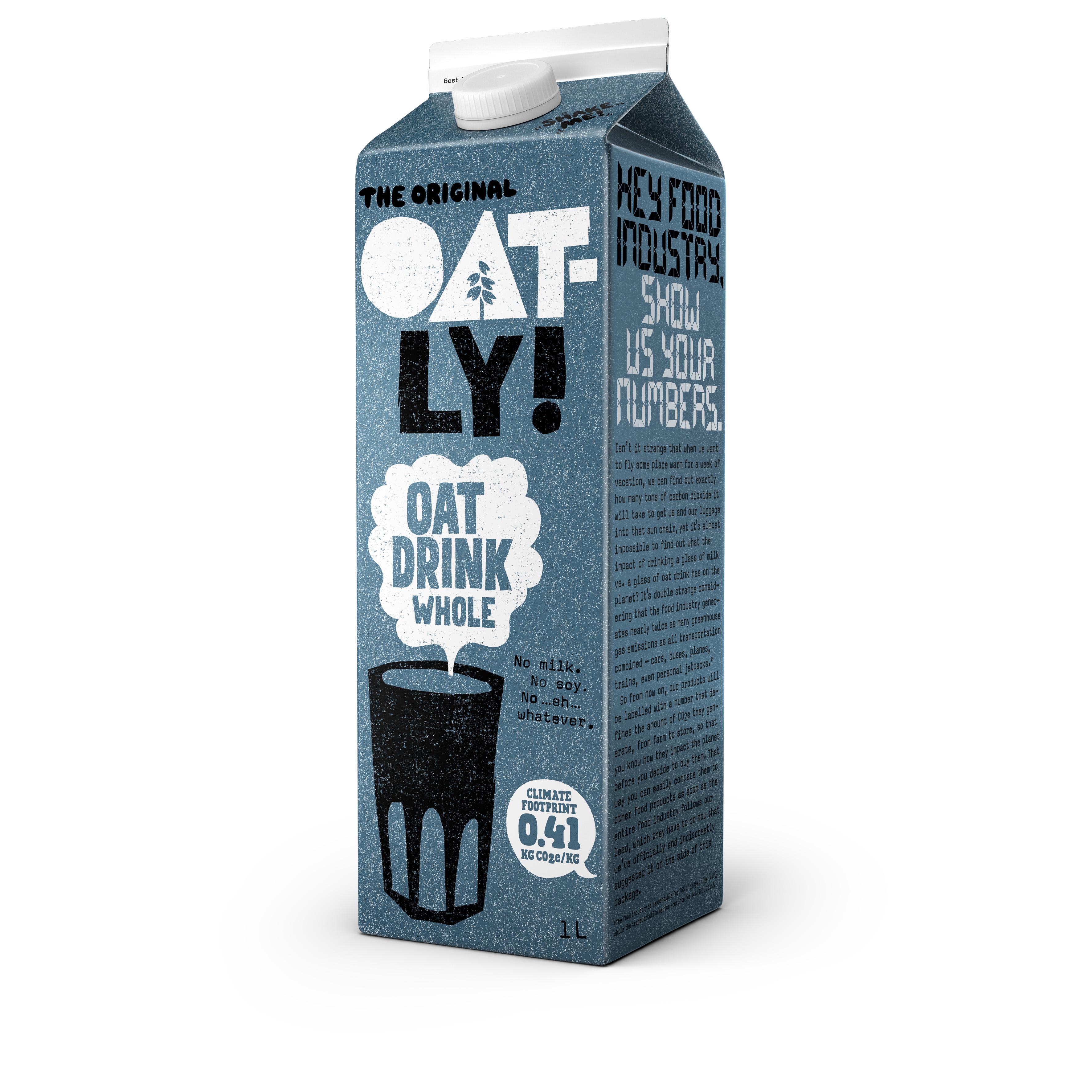 A product from vegan milk maker Oatly.   Courtesy Oatly