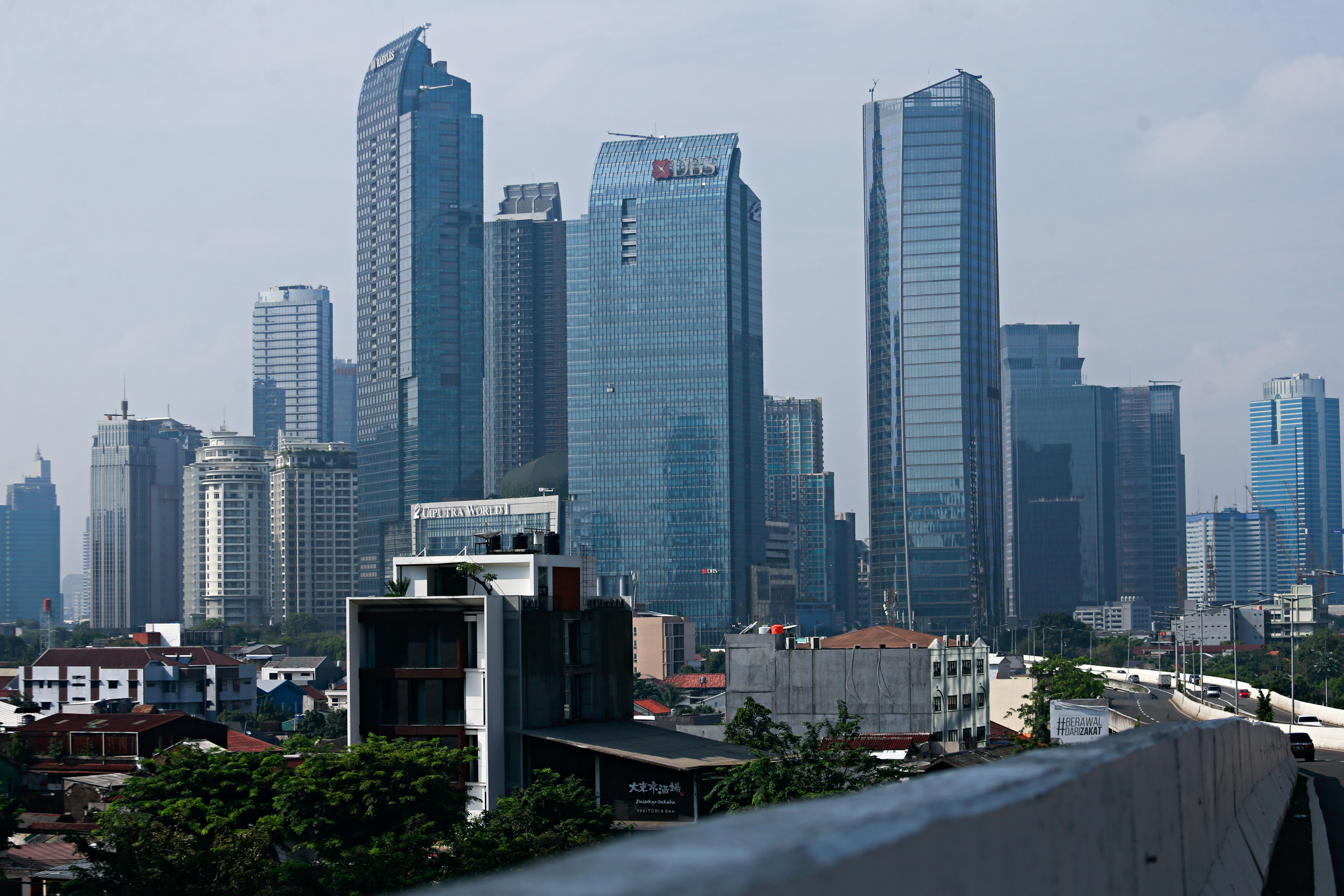 A general view of the skyline of Jakarta, the capital city of Indonesia, August 5, 2021. REUTERS/Ajeng Dinar Ulfiana