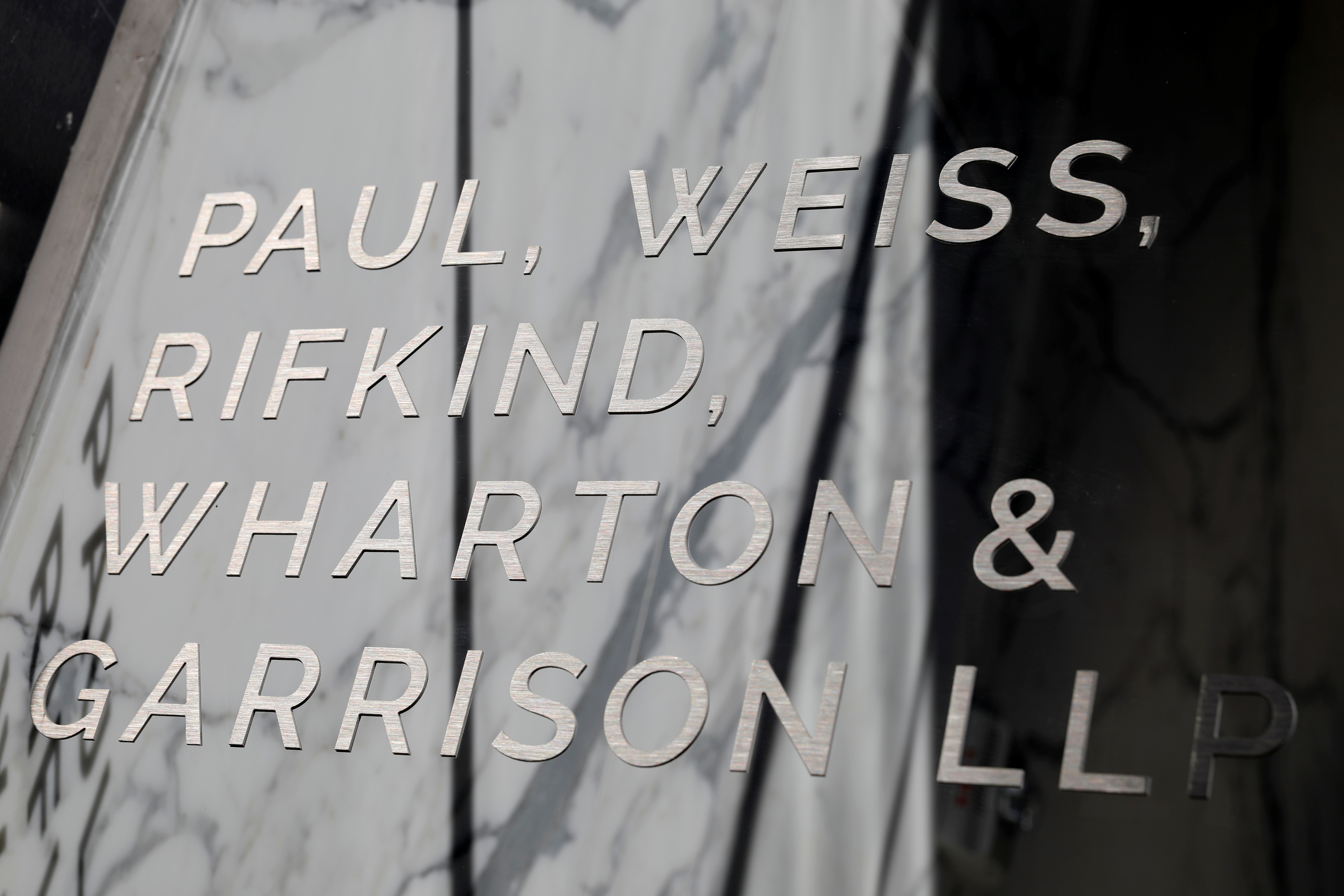 The Paul, Weiss, Rifkind, Wharton & Garrison LLP office in Washington, D.C., U.S. REUTERS/Andrew Kelly