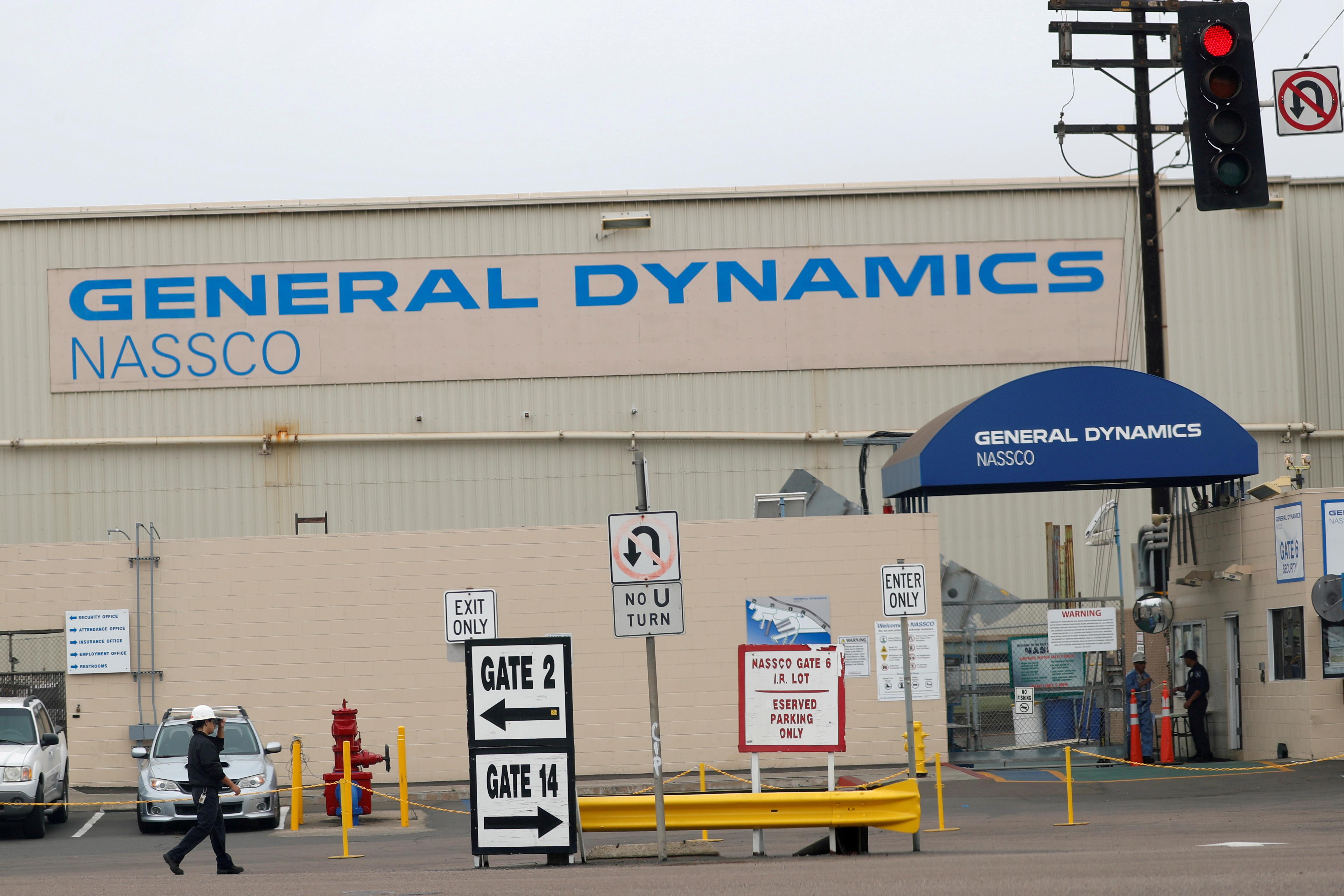 A General Dynamics NASSCO ship yard entrance is shown in San Diego, California, U.S., June 17, 2019. REUTERS/Mike Blake/File Photo