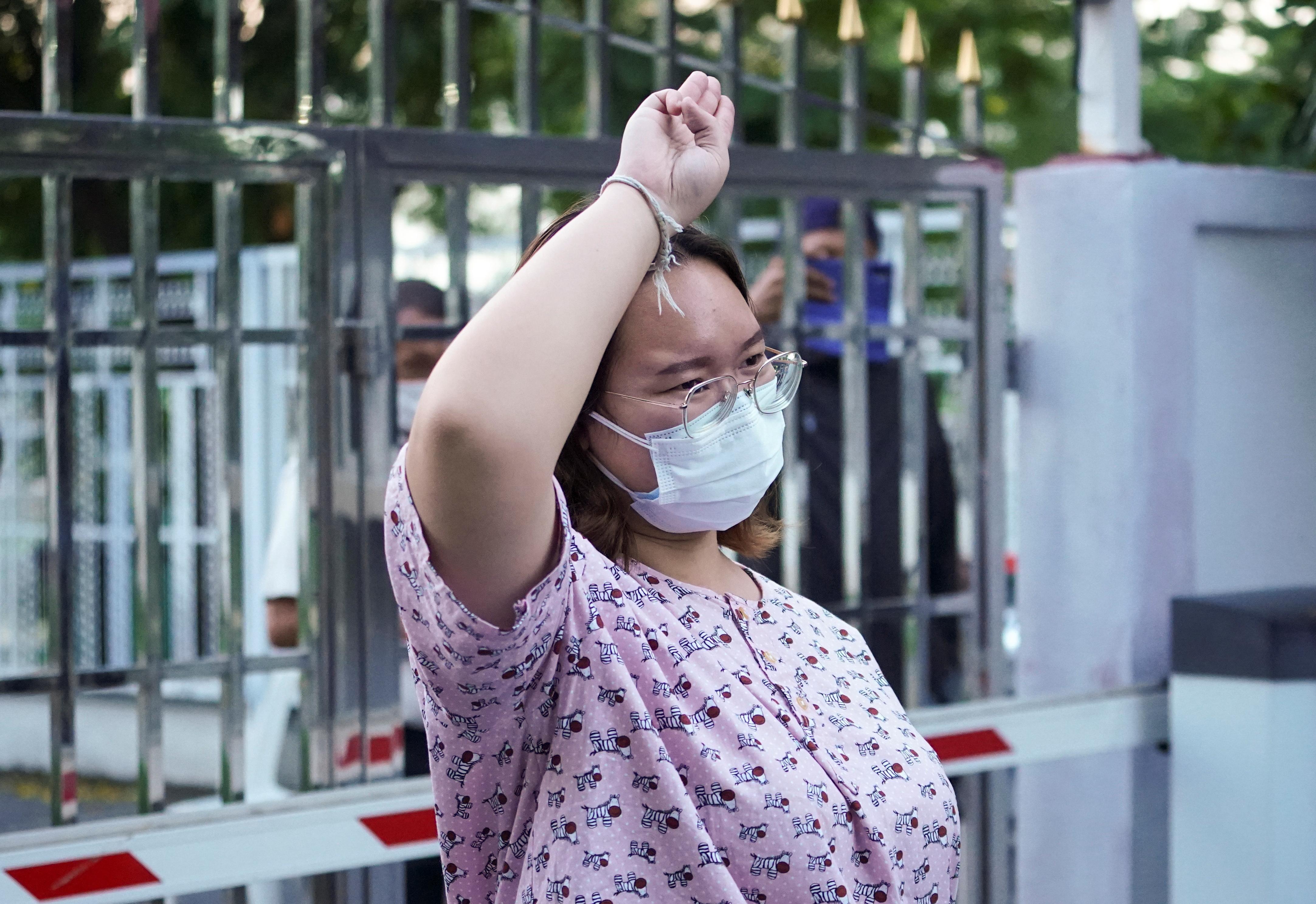 Protest leader Panusaya