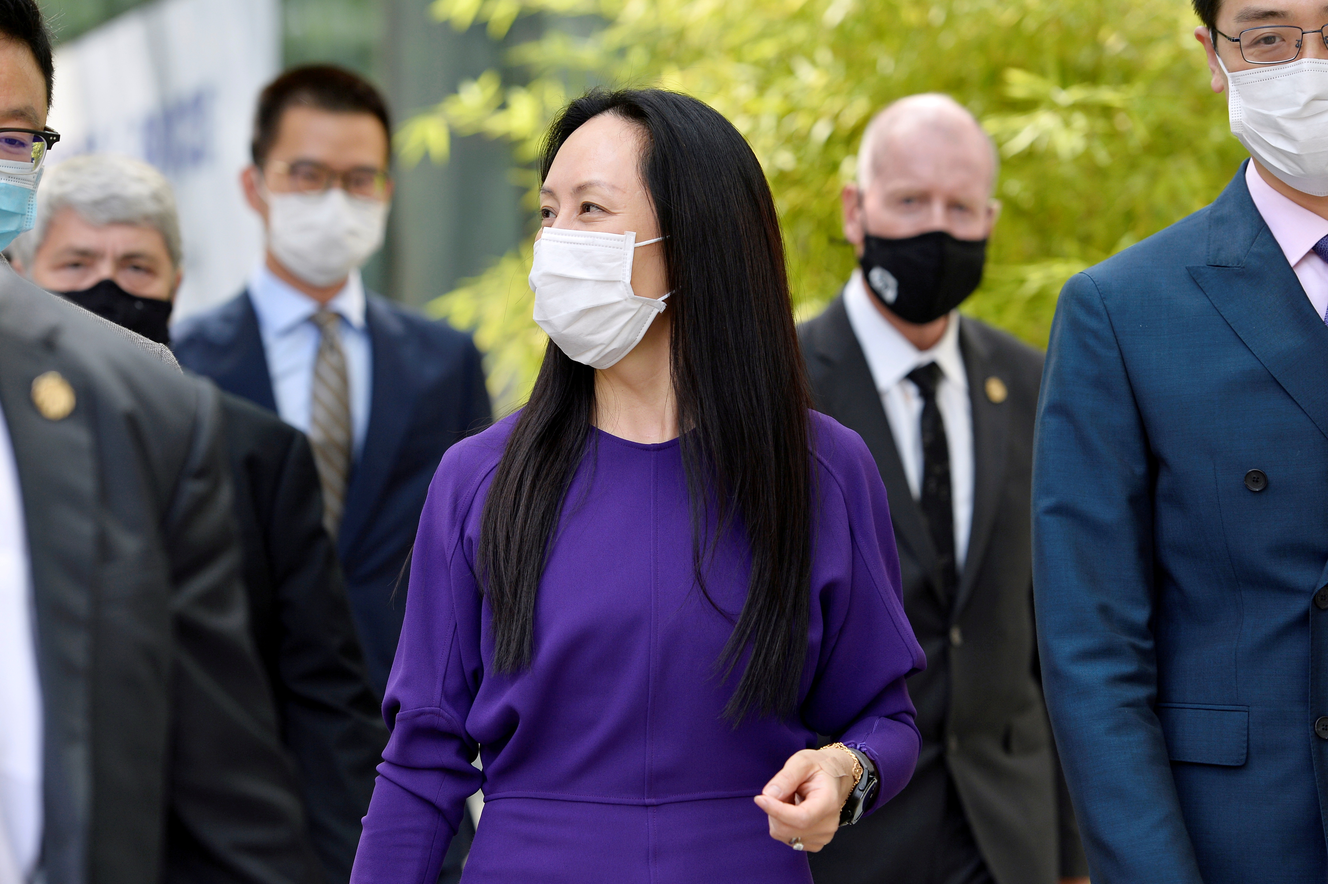 Huawei Technologies Chief Financial Officer Meng Wanzhou returns to a court hearing in Vancouver, Canada, August 18, 2021. REUTERS/Jennifer Gauthier/File Photo