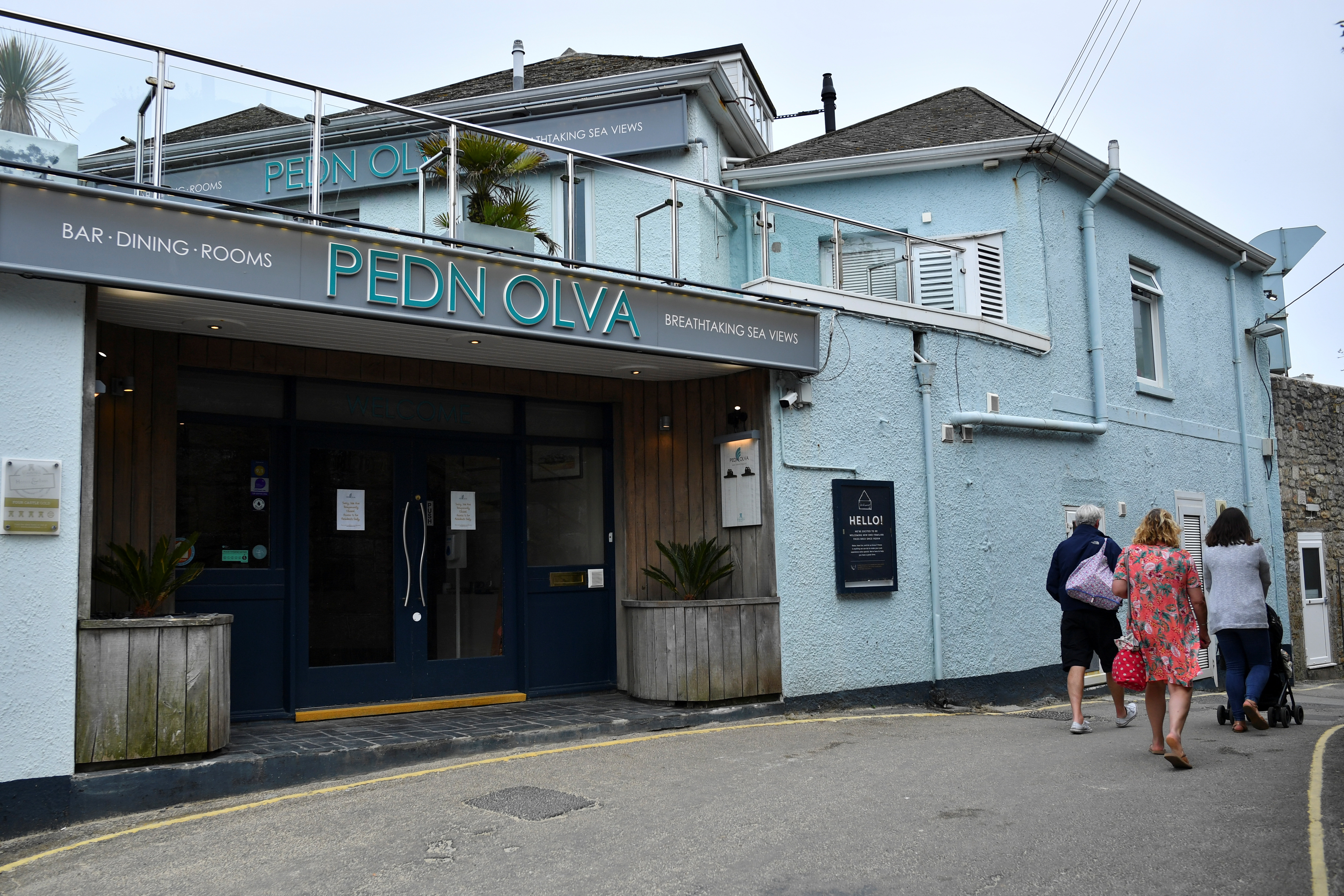 The Pedn Olva Hotel is seen, after it was closed due to a guest contracting coronavirus disease (COVID-19), during the G7 leaders summit, in St Ives, Cornwall, Britain, June 10, 2021. REUTERS/Dylan Martinez
