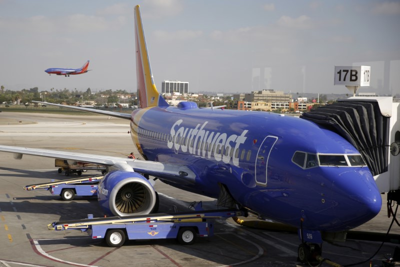 Southwest Airlines planes are seen at LAX airport in Los Angeles, California, United States, October 22, 2015. REUTERS/Lucy Nicholson