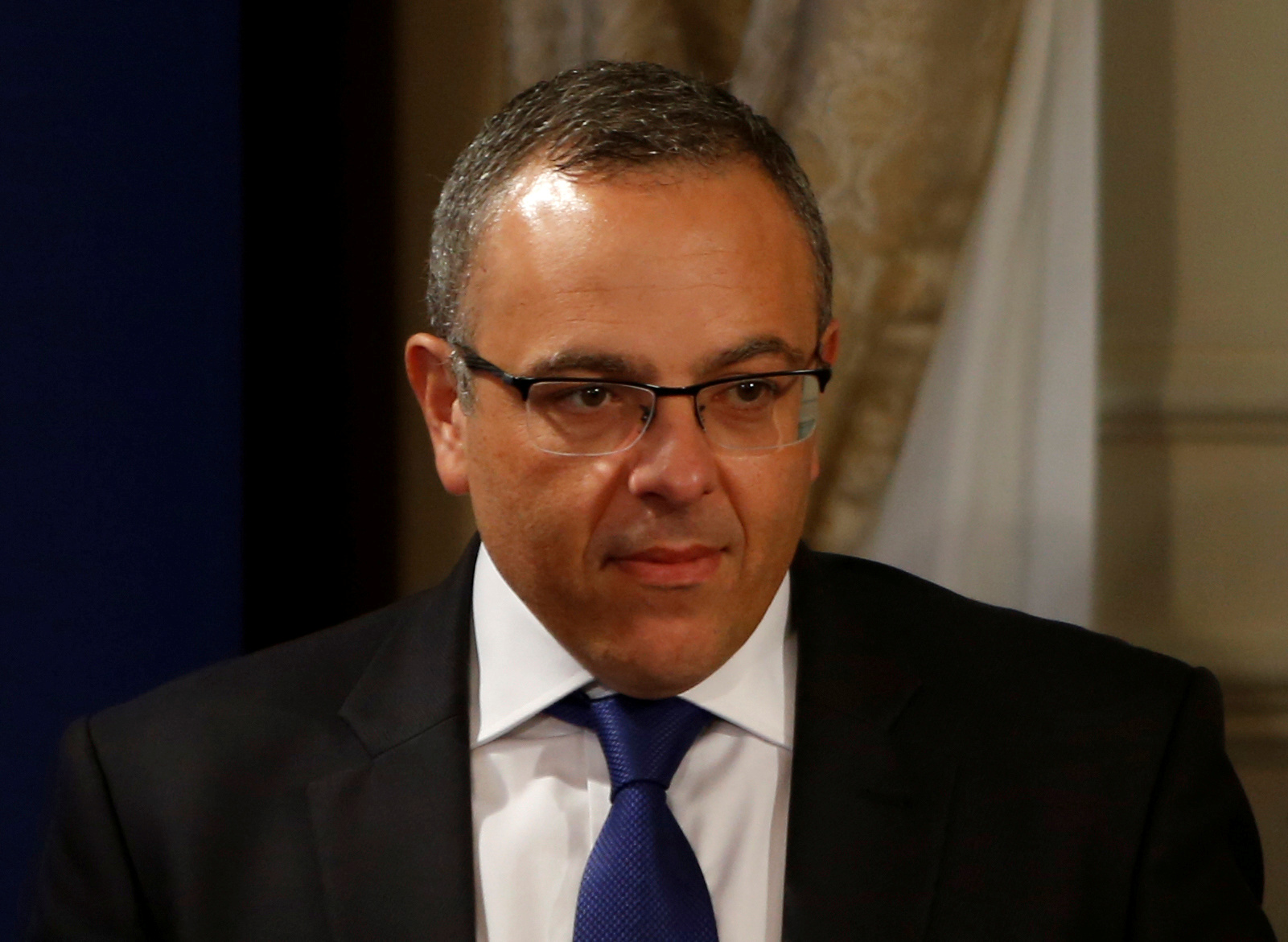 Keith Schembri, Chief of Staff in the office of Malta's Prime Minister Joseph Muscat, arrives for a joint news conference between Muscat and President of the European Council Donald Tusk in Valletta, Malta, March 31, 2017. REUTERS/Darrin Zammit Lupi/File Photo