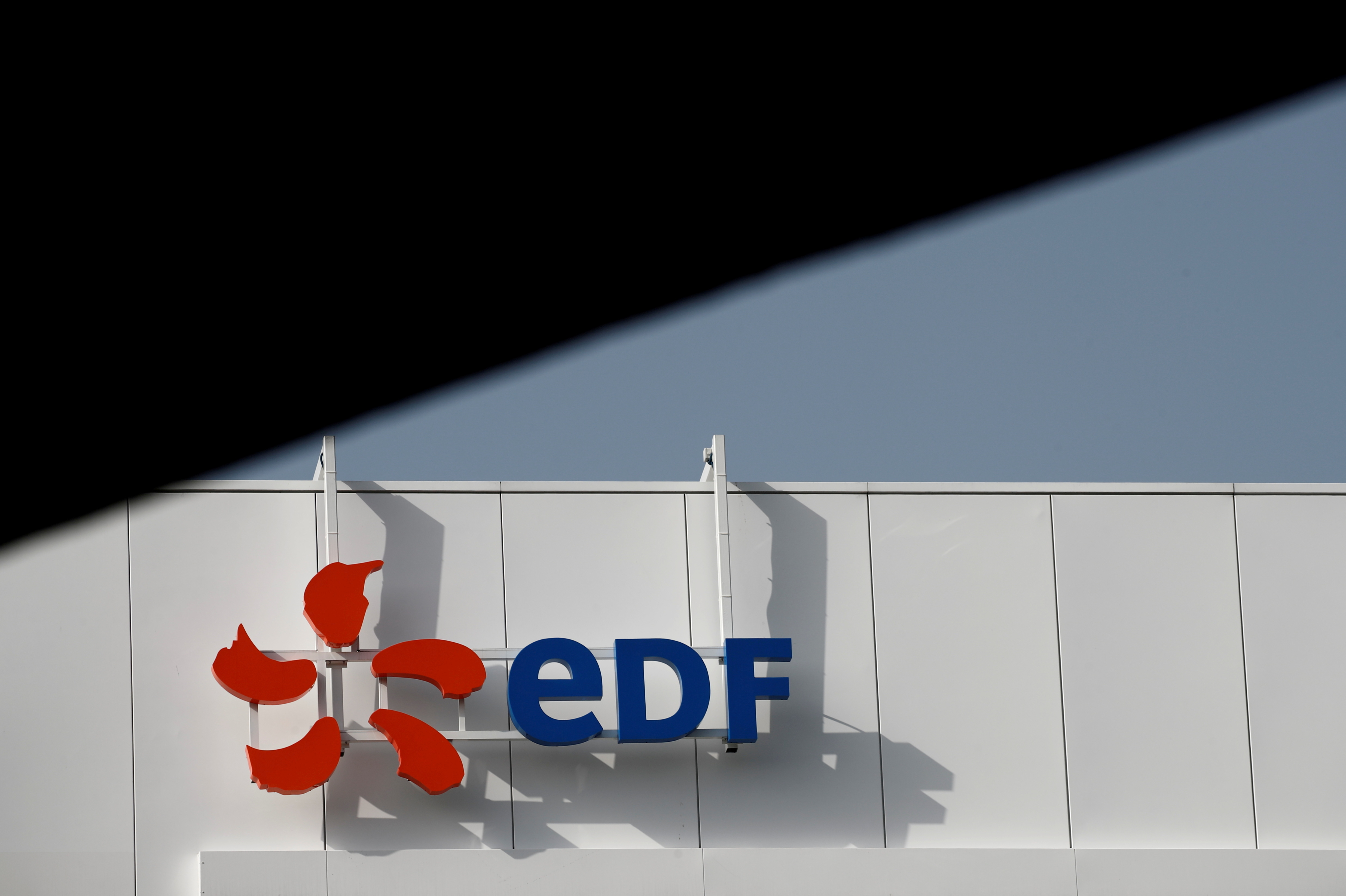 The company logo for Electricite de France (EDF) is seen in Paris, France, March 2, 2021. REUTERS/Benoit Tessier/File Photo
