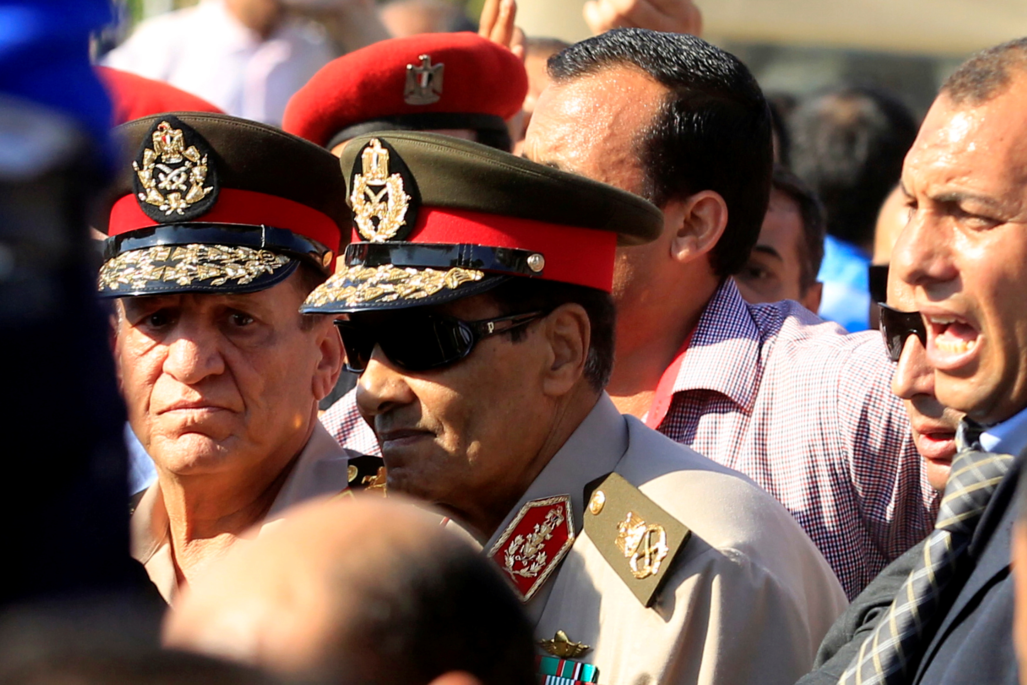 Field Marshal Hussein Tantawi (C) attends the funeral of Egypt's former intelligence chief Omar Suleiman in Cairo July 21, 2012. REUTERS /Mohamed Abd El Ghany/File Photo