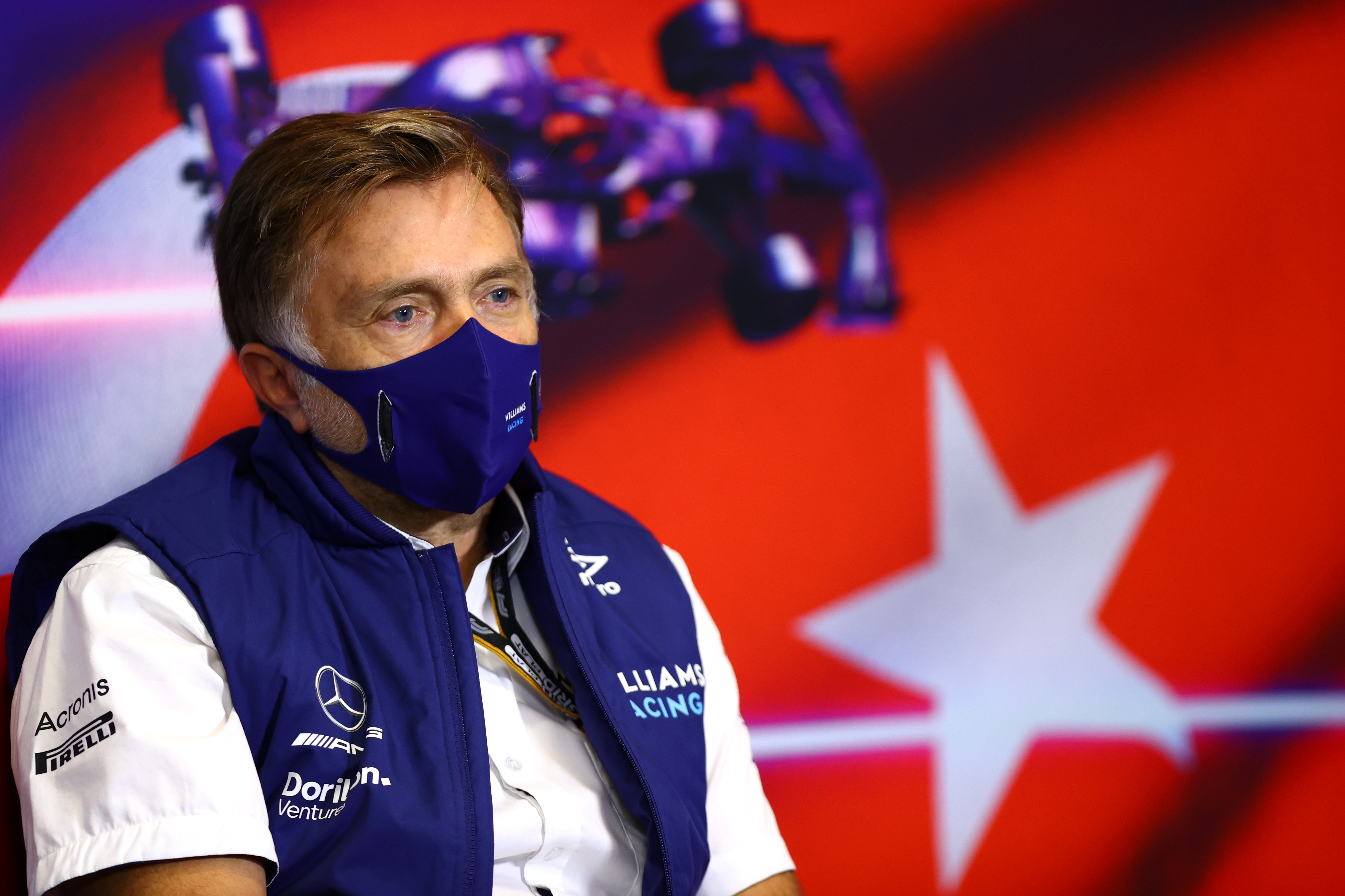 Formula One F1 - Turkish Grand Prix - Intercity Istanbul Park, Istanbul, Turkey - October 8, 2021  Jost Capito, CEO of Williams during the press conference  FIA/Handout via REUTERS