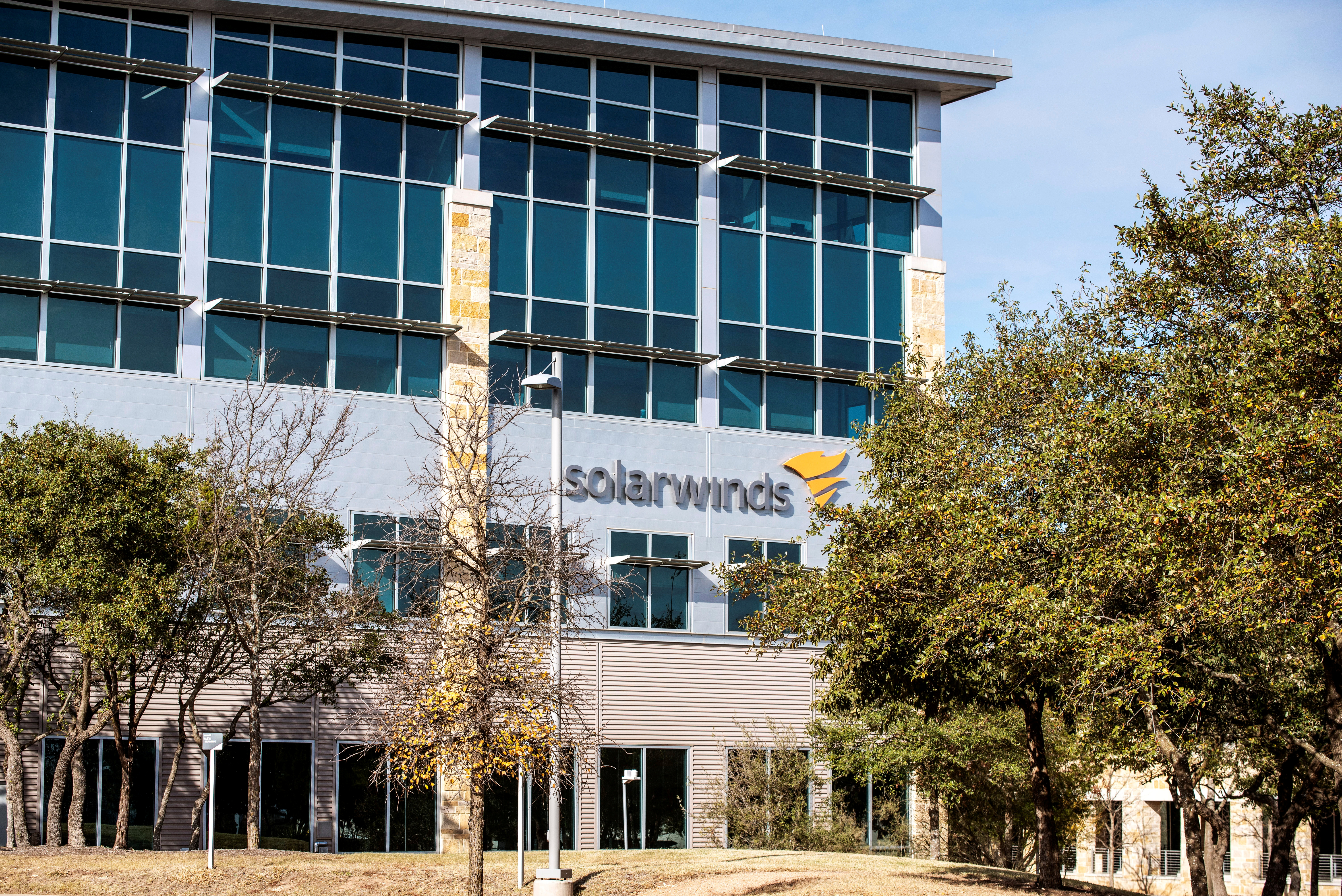 The SolarWinds headquarters are seen in Austin, Texas, U.S., December 18, 2020. REUTERS/Sergio Flores/