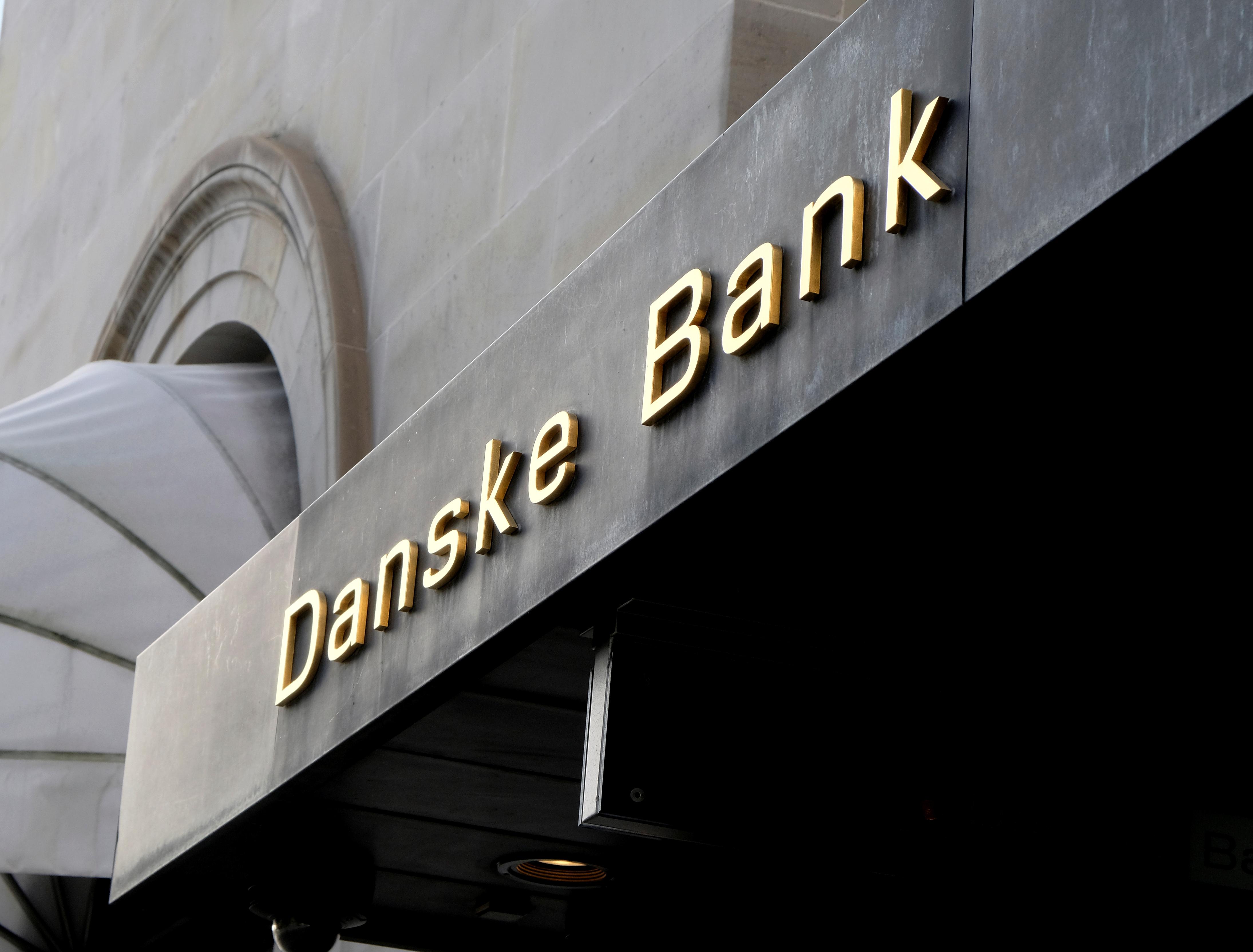 A Danske bank sign is seen on a bank's headquarters in Copenhagen, Denmark October 22, 2019. REUTERS/Nikolaj Skydsgaard