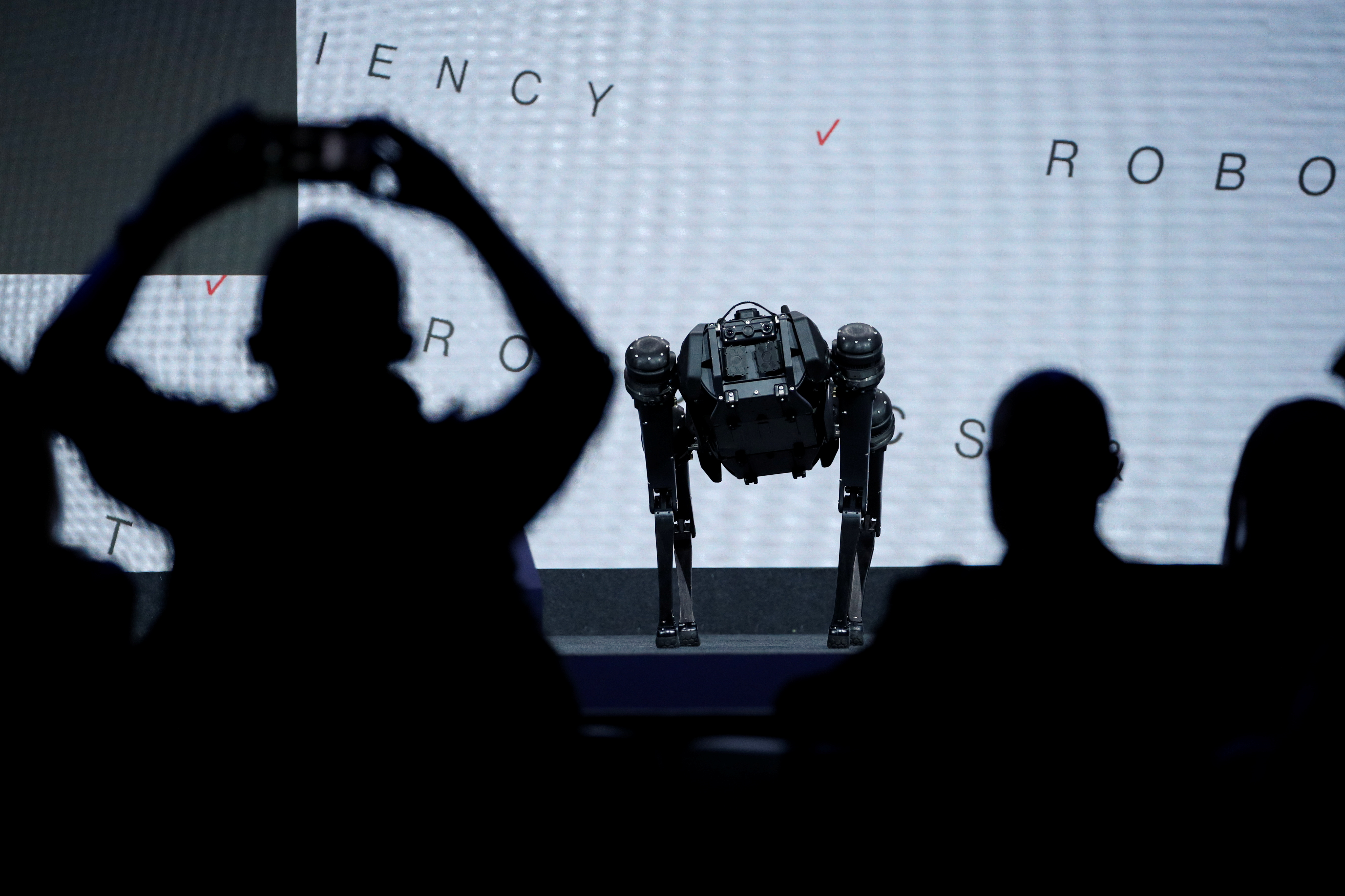 A robot is pictured during the Mobile World Congress (MWC) in Barcelona, Spain, June 28, 2021. REUTERS/Albert Gea