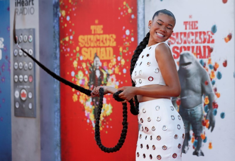 Cast member Storm Reid poses at the premiere for the film