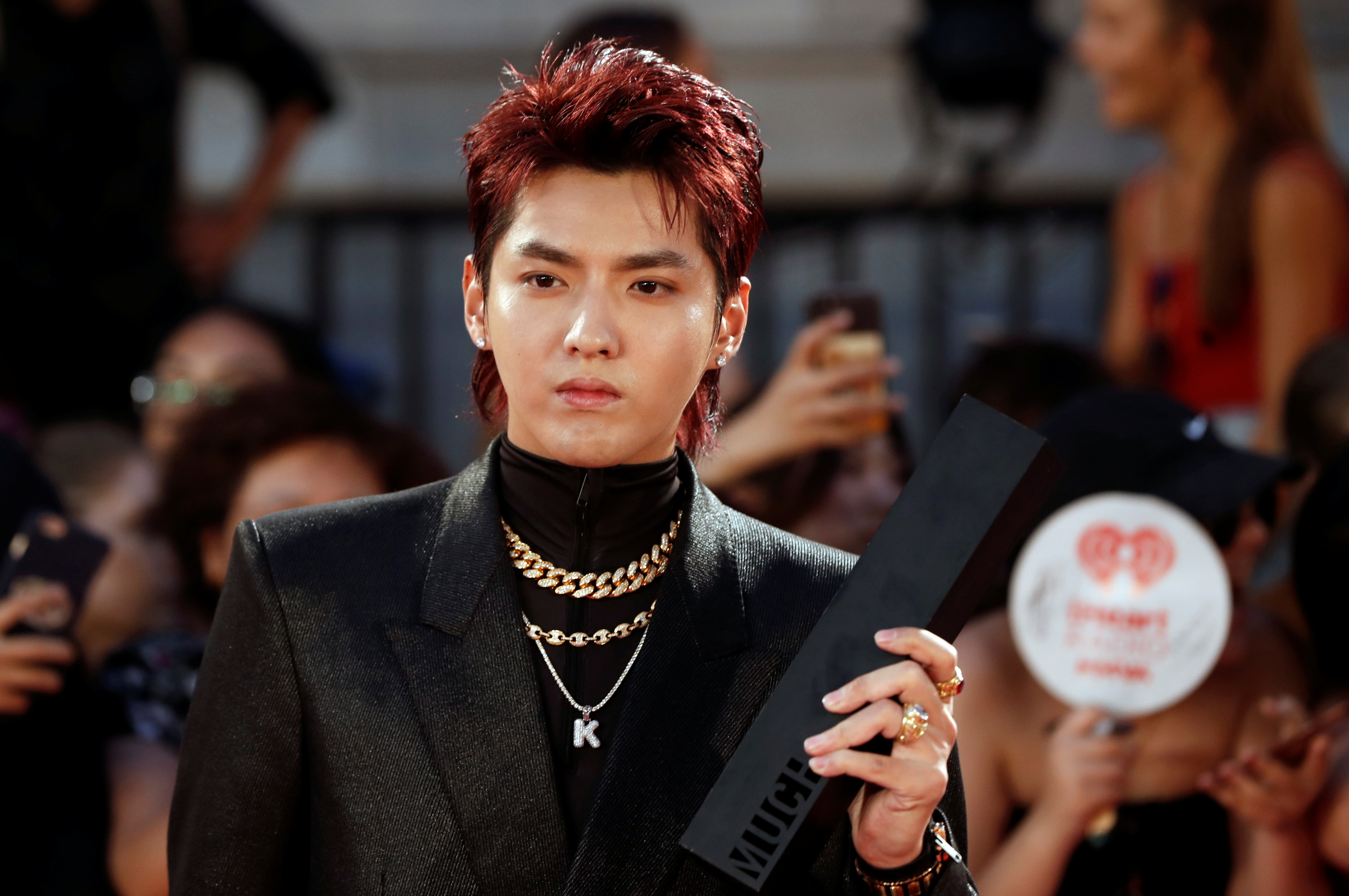 Kris Wu arrives at the iHeartRadio MuchMusic Video Awards (MMVA) in Toronto, Ontario, Canada August 26, 2018. REUTERS/Mark Blinch/File Photo