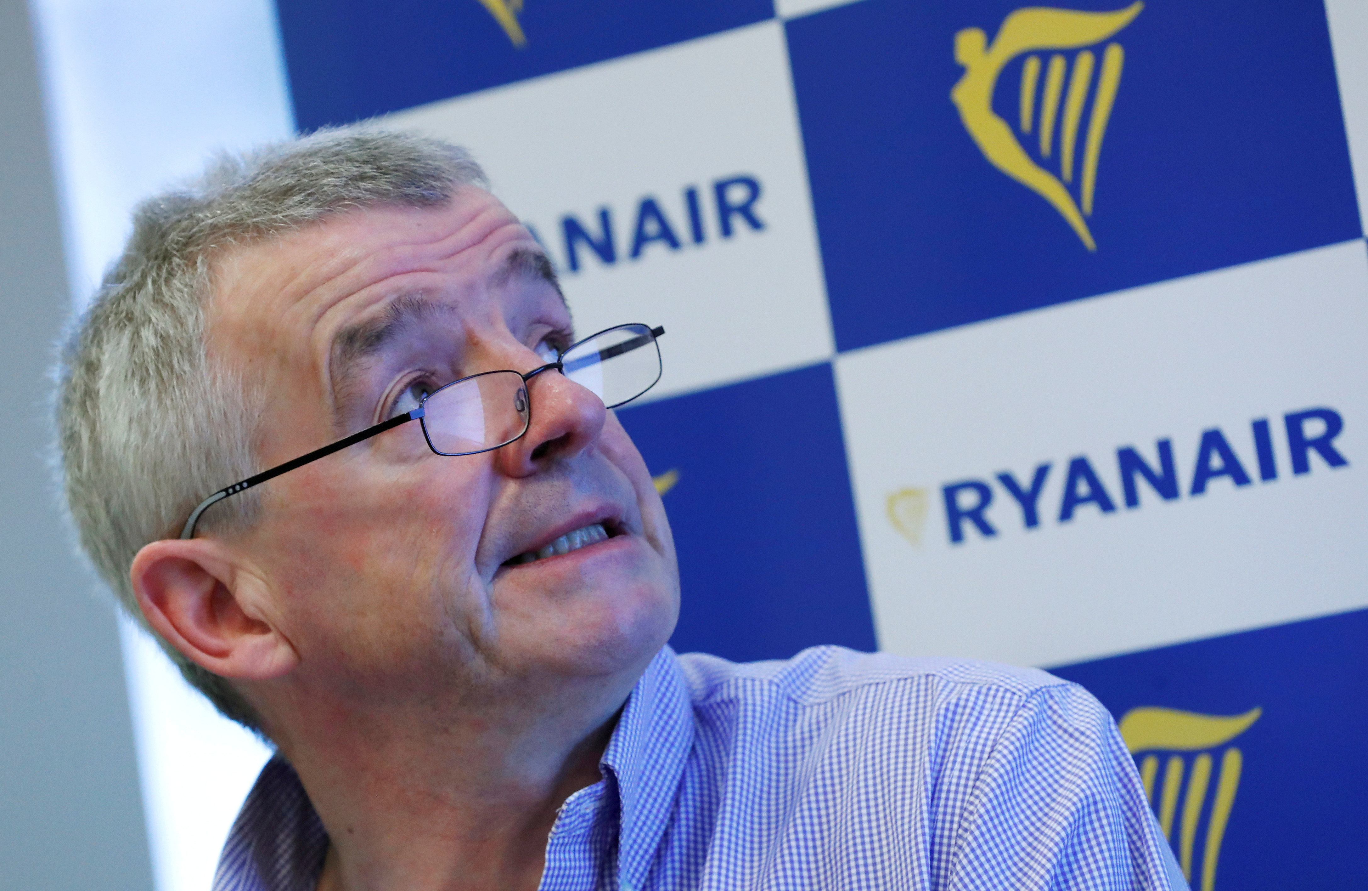Ryanair CEO Michael O'Leary holds a news conference in Brussels, Belgium, March 6, 2018. REUTERS/Yves Herman/File Photo