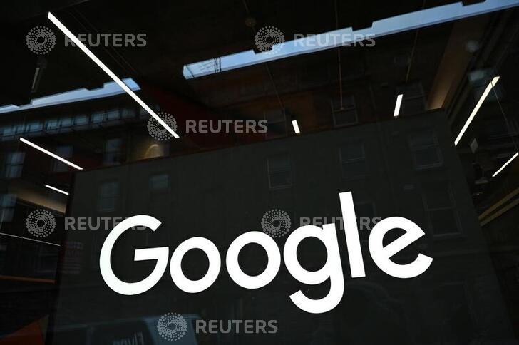 The Google logo is seen on on the company's European headquarters in Dublin, Ireland, February 27, 2021. Picture taken February 27, 2021. REUTERS/Clodagh Kilcoyne