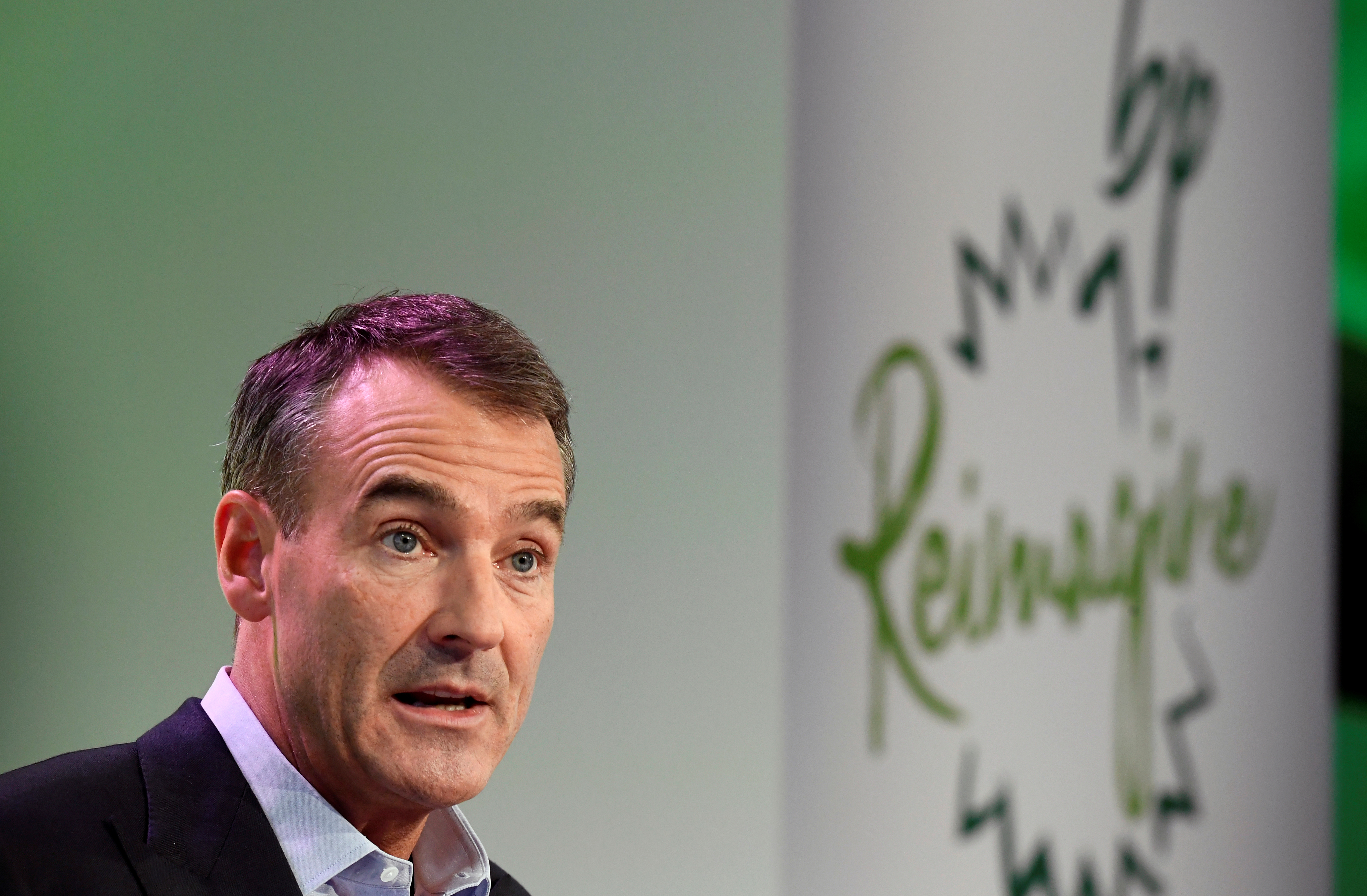 BP Chief Executive Bernard Looney gives a speech in central London, Britain, February 12, 2020. REUTERS/Toby Melville